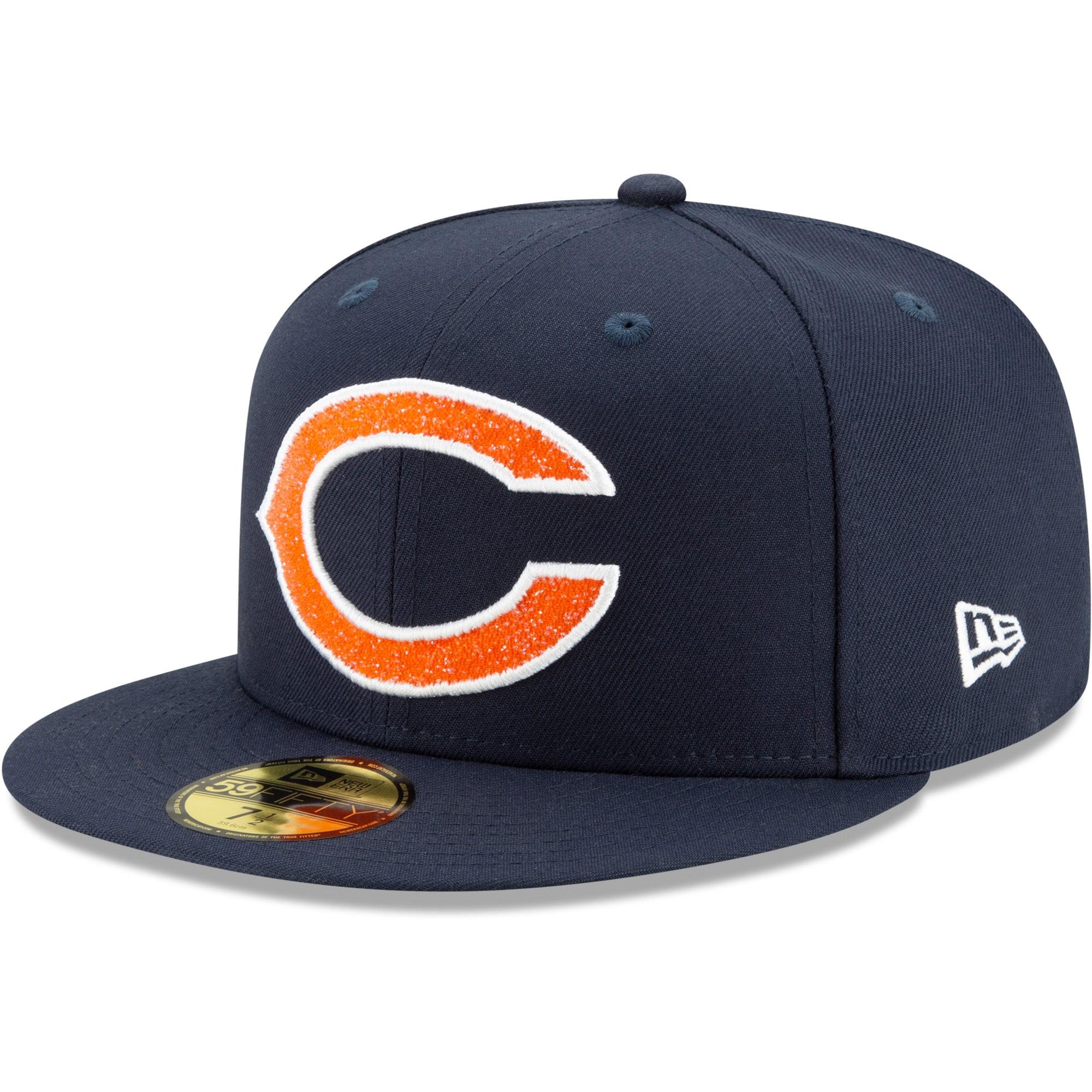 Chicago Bears New Era Swarovski 59FIFTY Fitted Hat - Navy