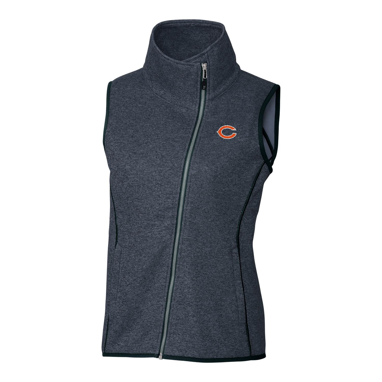 Chicago Bears Cutter & Buck Women's Mainsail Full-Zip Vest - Navy