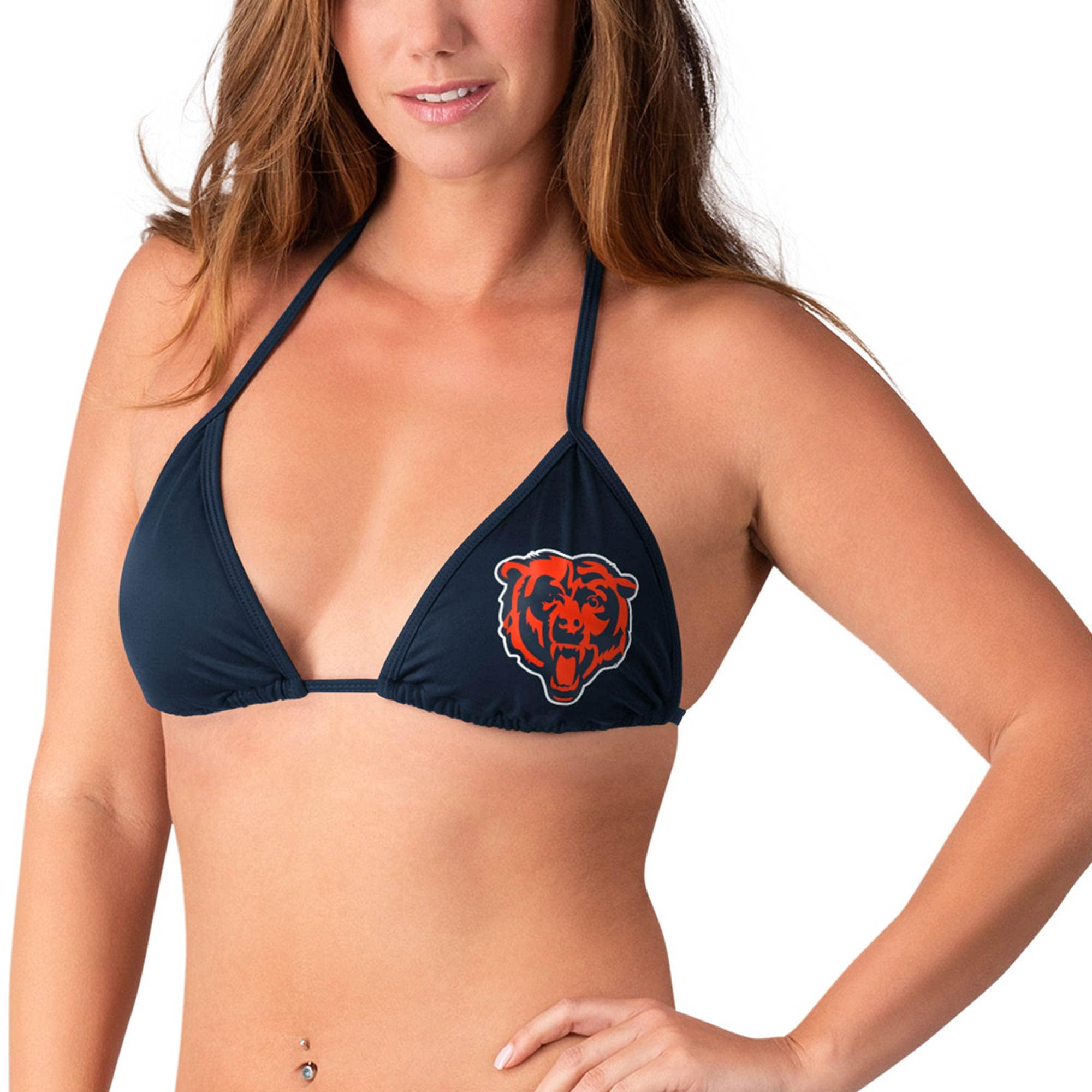 Chicago Bears G-III 4Her by Carl Banks Women's Without Limits Bikini Top - Navy