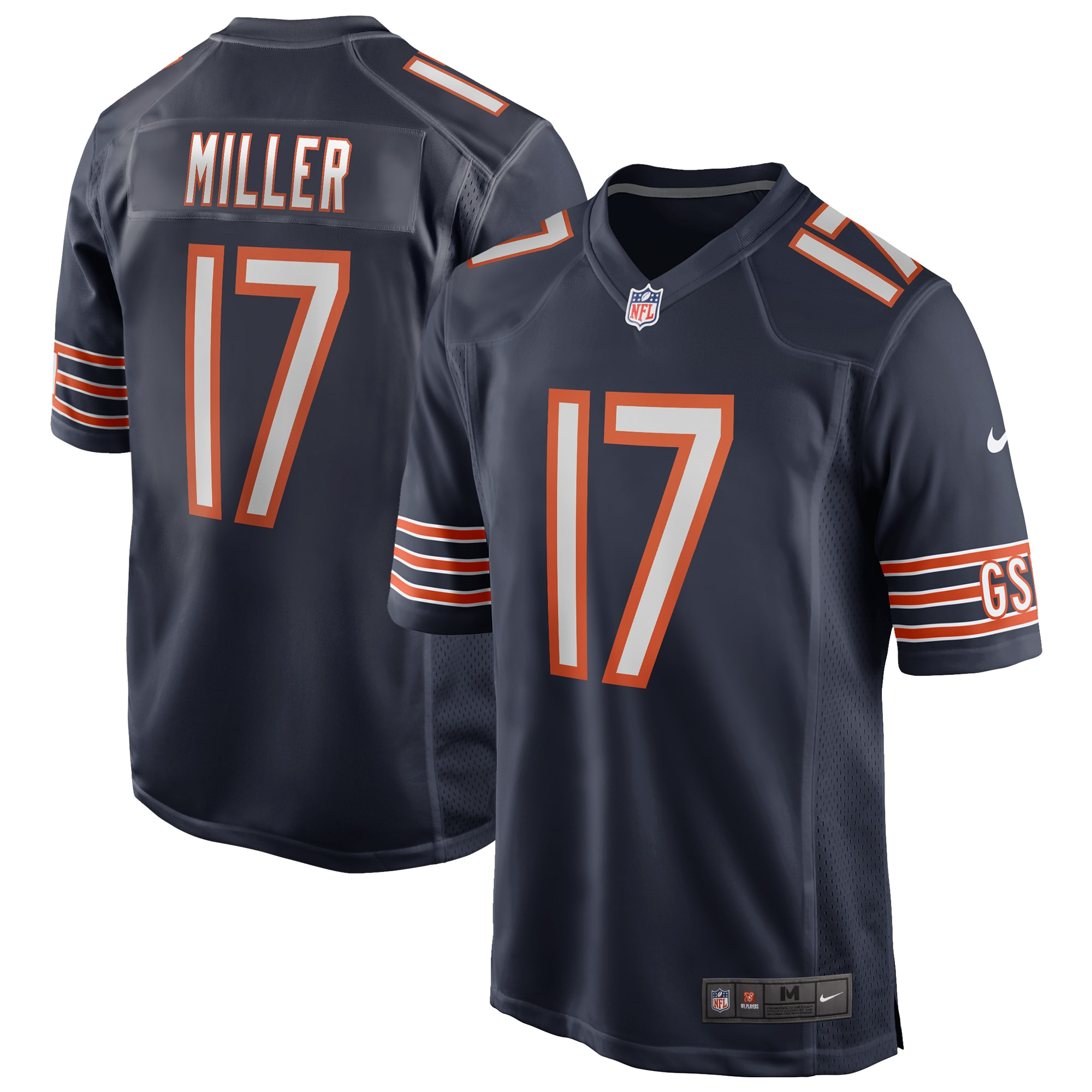 Anthony Miller Chicago Bears Nike Game Jersey - Navy