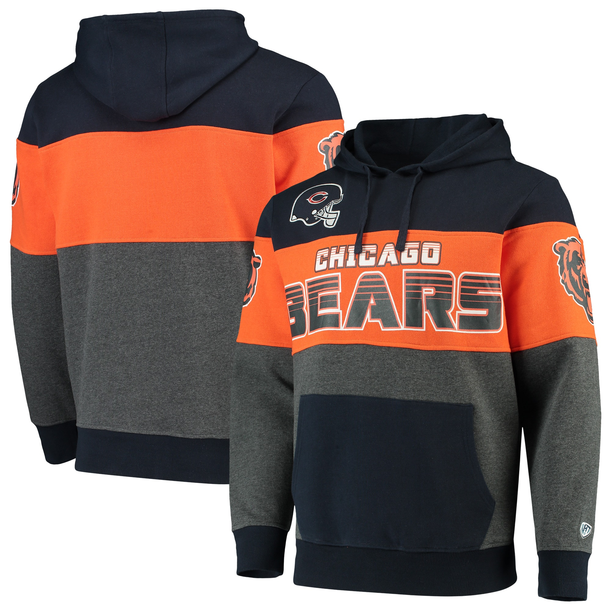 Chicago Bears G-III Sports by Carl Banks Extreme Special Team Pullover Hoodie - Navy