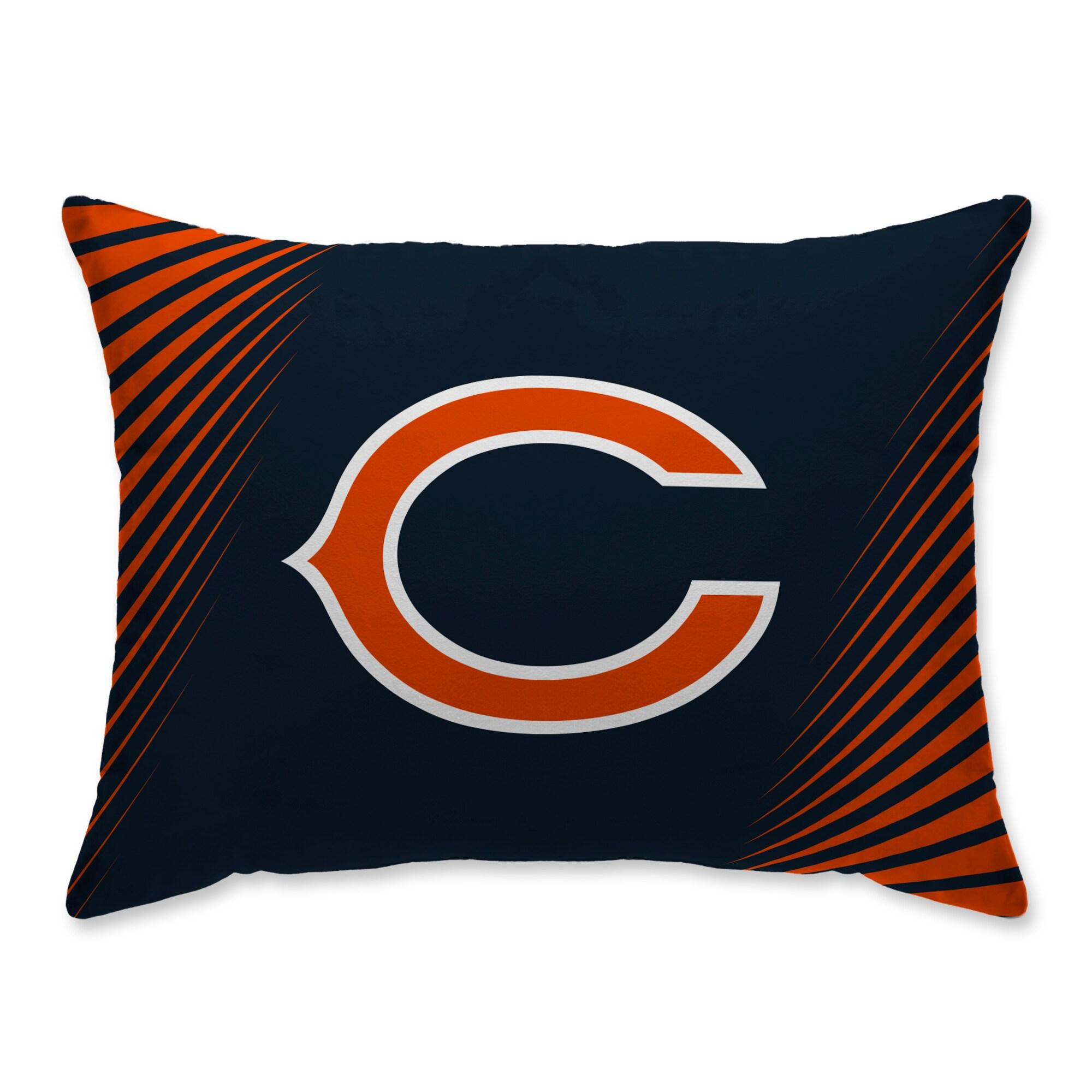 Chicago Bears Side Streak Plush Standard Pillow Protector - Blue