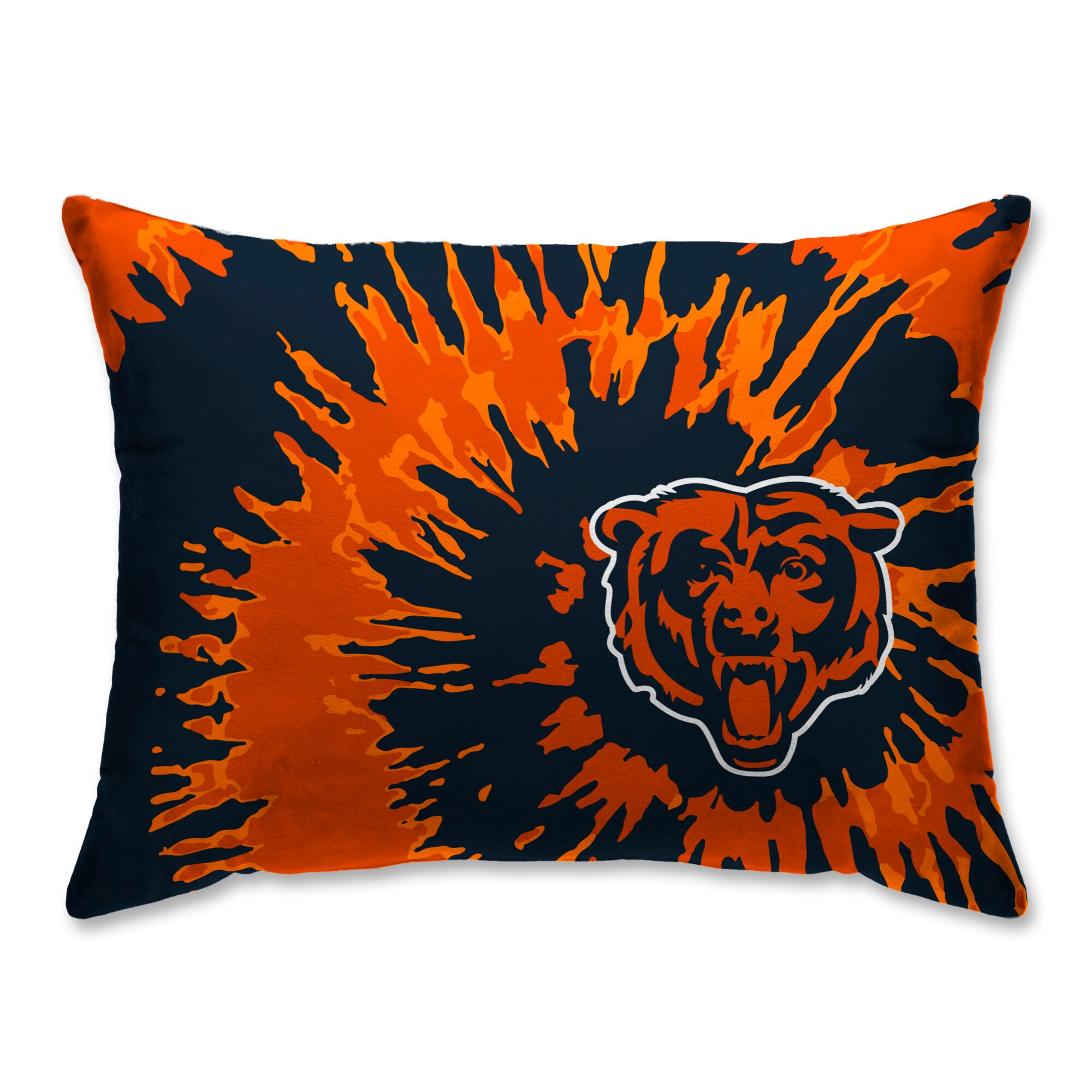 Chicago Bears Tie Dye Plush Bed Pillow - Blue