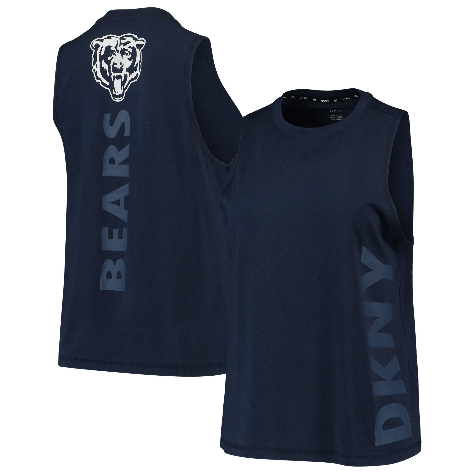 Chicago Bears DKNY Sport Women's Olivia Tri-Blend Tank Top - Navy