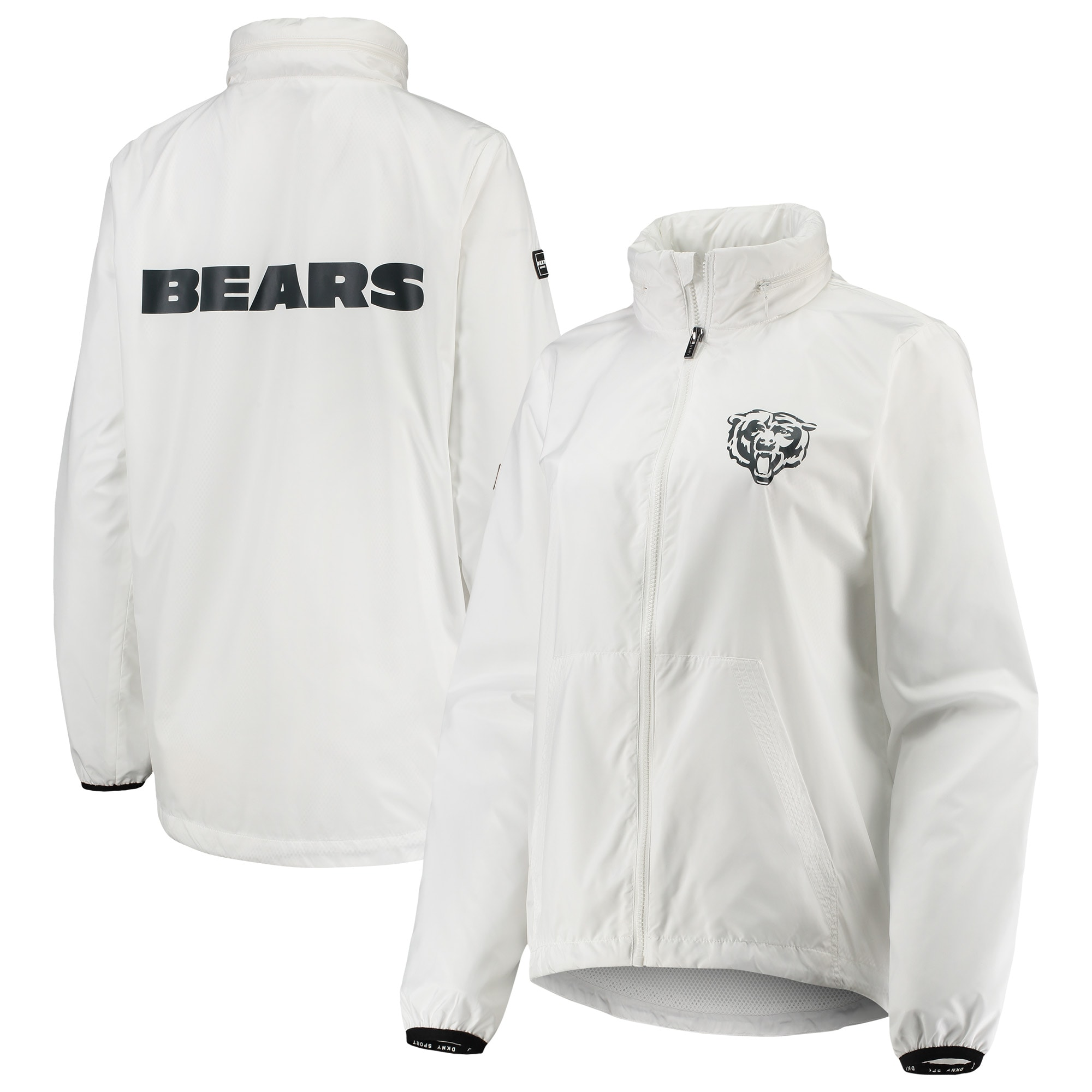 Chicago Bears DKNY Sport Women's Stadium Full-Zip Jacket - White