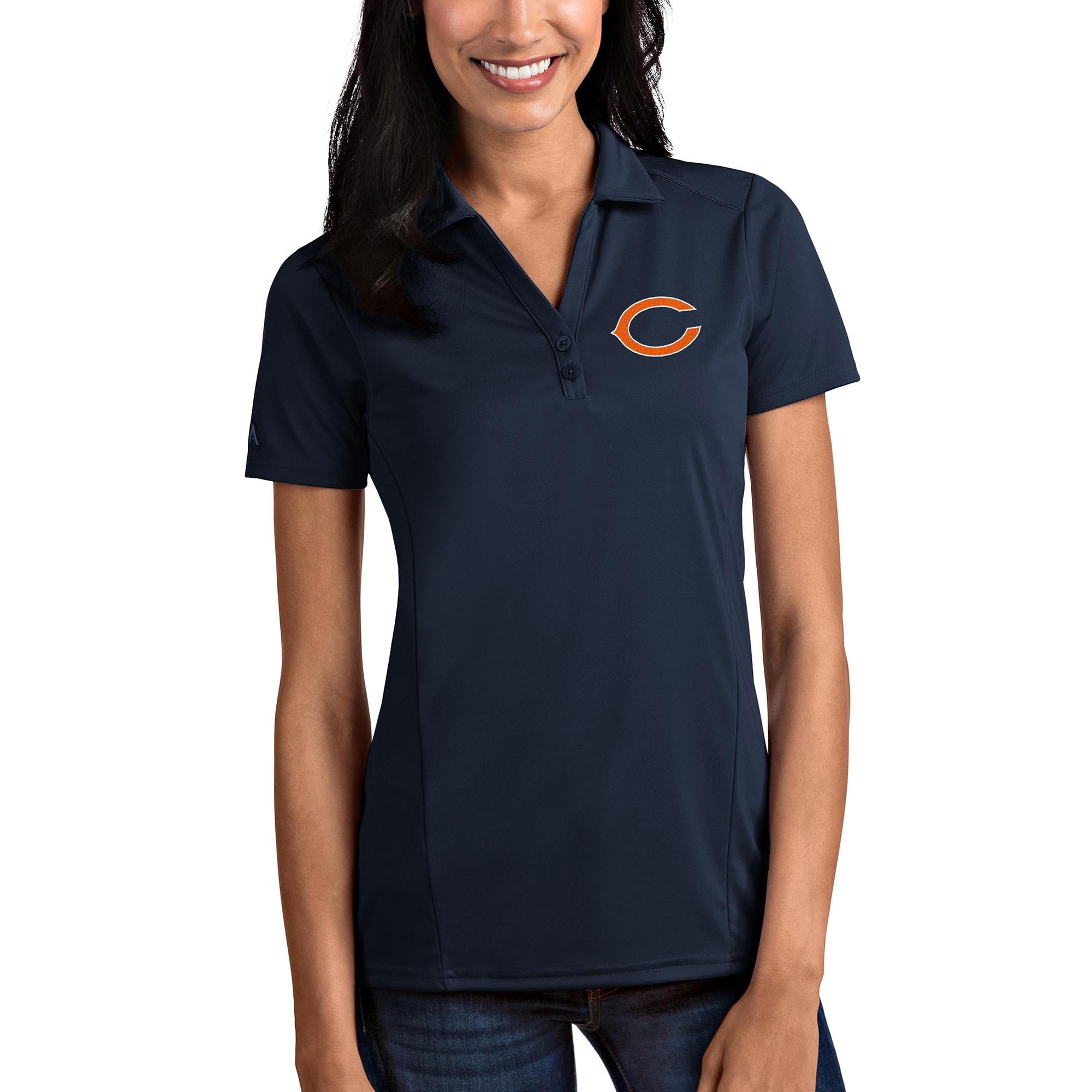 Chicago Bears Antigua Women's Tribute Polo - Navy