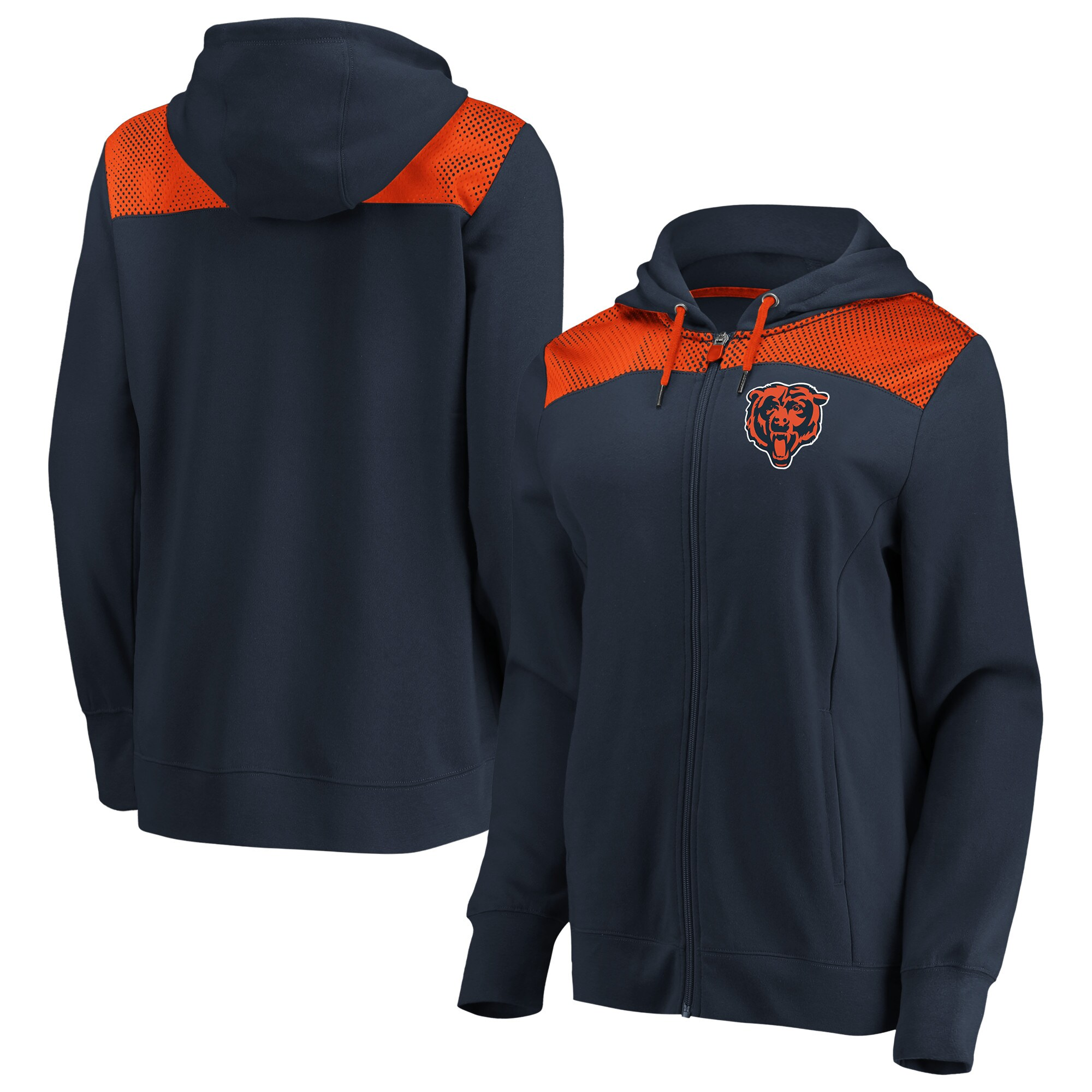Chicago Bears Fanatics Branded Women's Team Best Full-Zip Hoodie - Navy