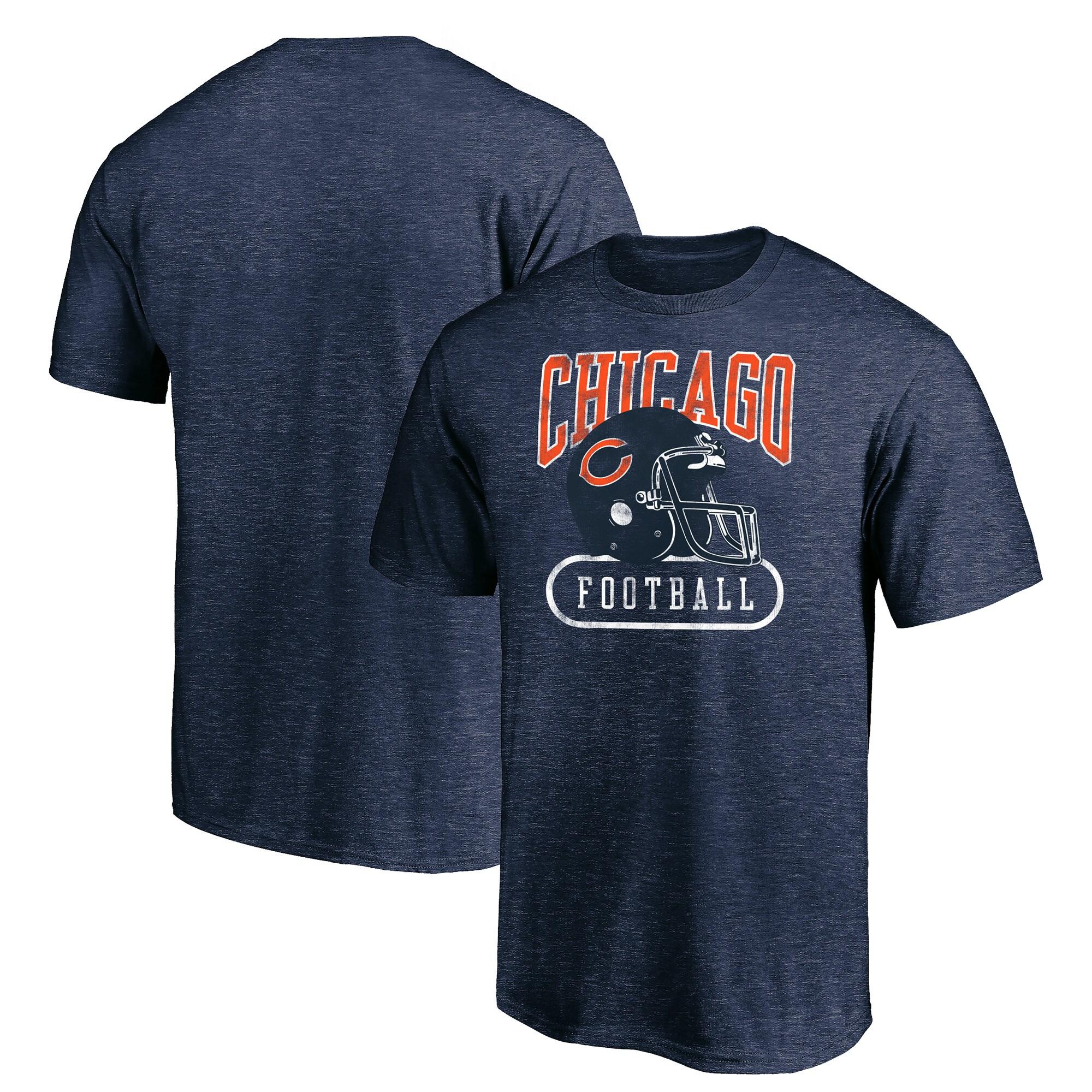 Chicago Bears Majestic True Classics Pro Club Throwback T-Shirt - Navy