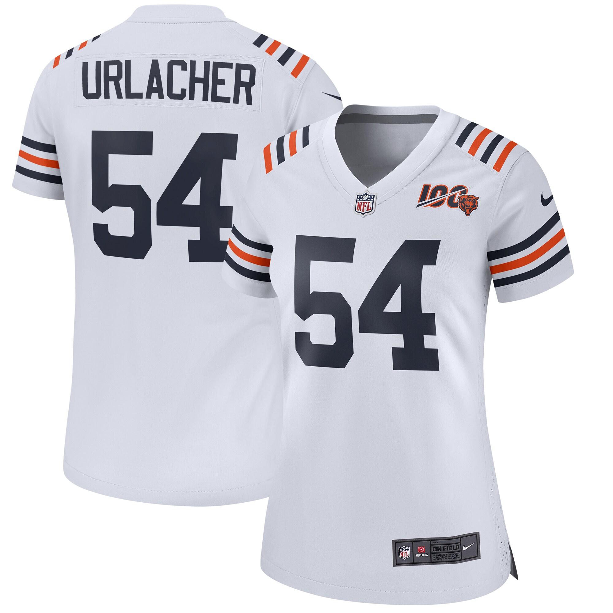 Brian Urlacher Chicago Bears Nike Women's 2019 100th Season Alternate Classic Retired Player Game Jersey - White