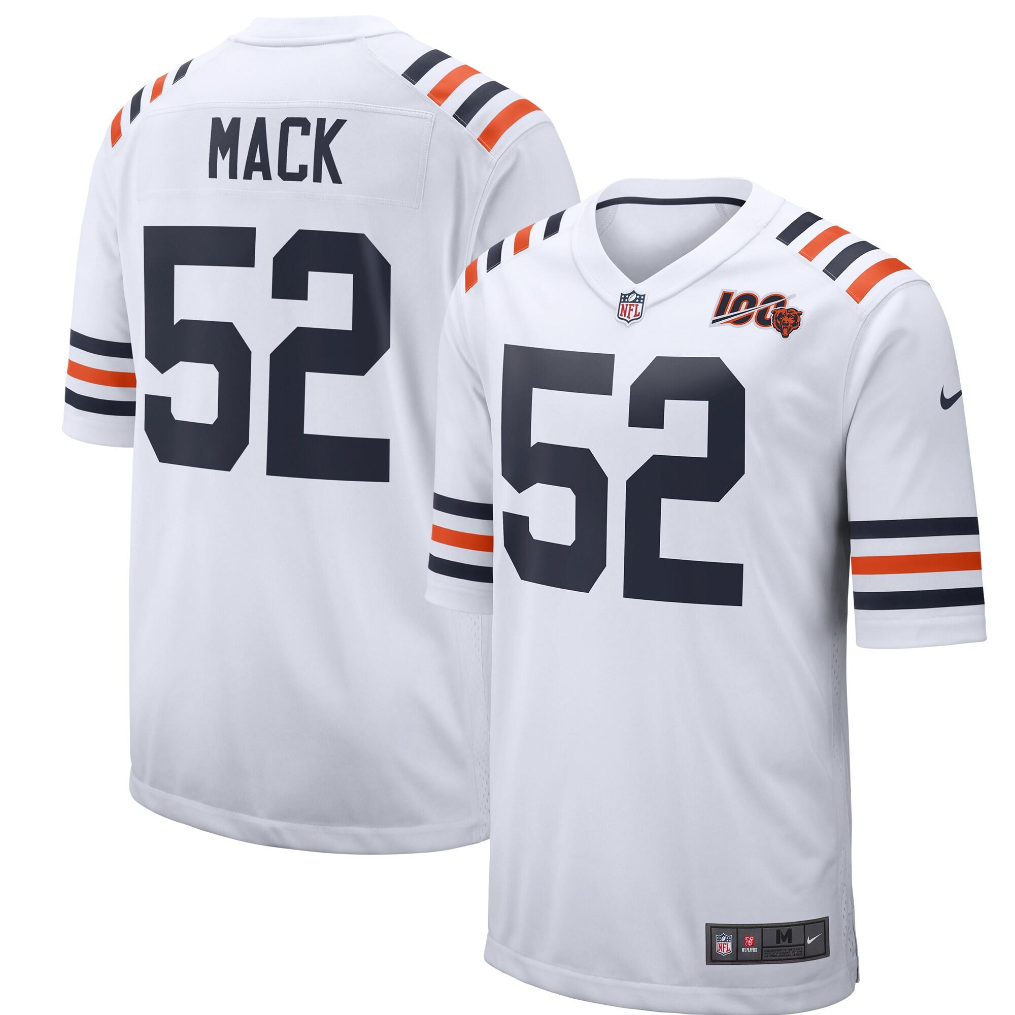 Khalil Mack Chicago Bears Nike 2019 100th Season Alternate Classic Player Game Jersey - White