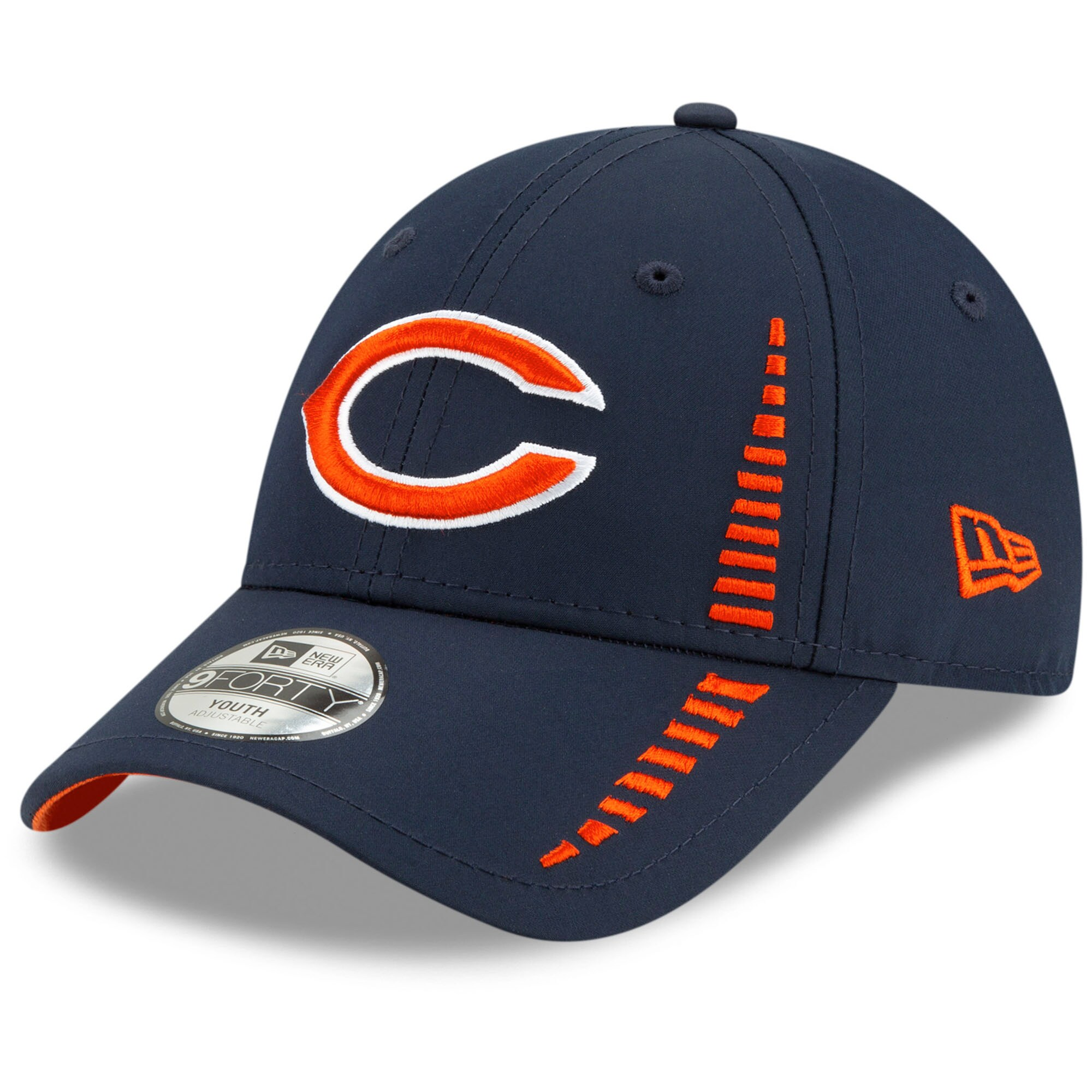 Chicago Bears New Era Youth Team Logo Speed 9FORTY Adjustable Hat - Navy