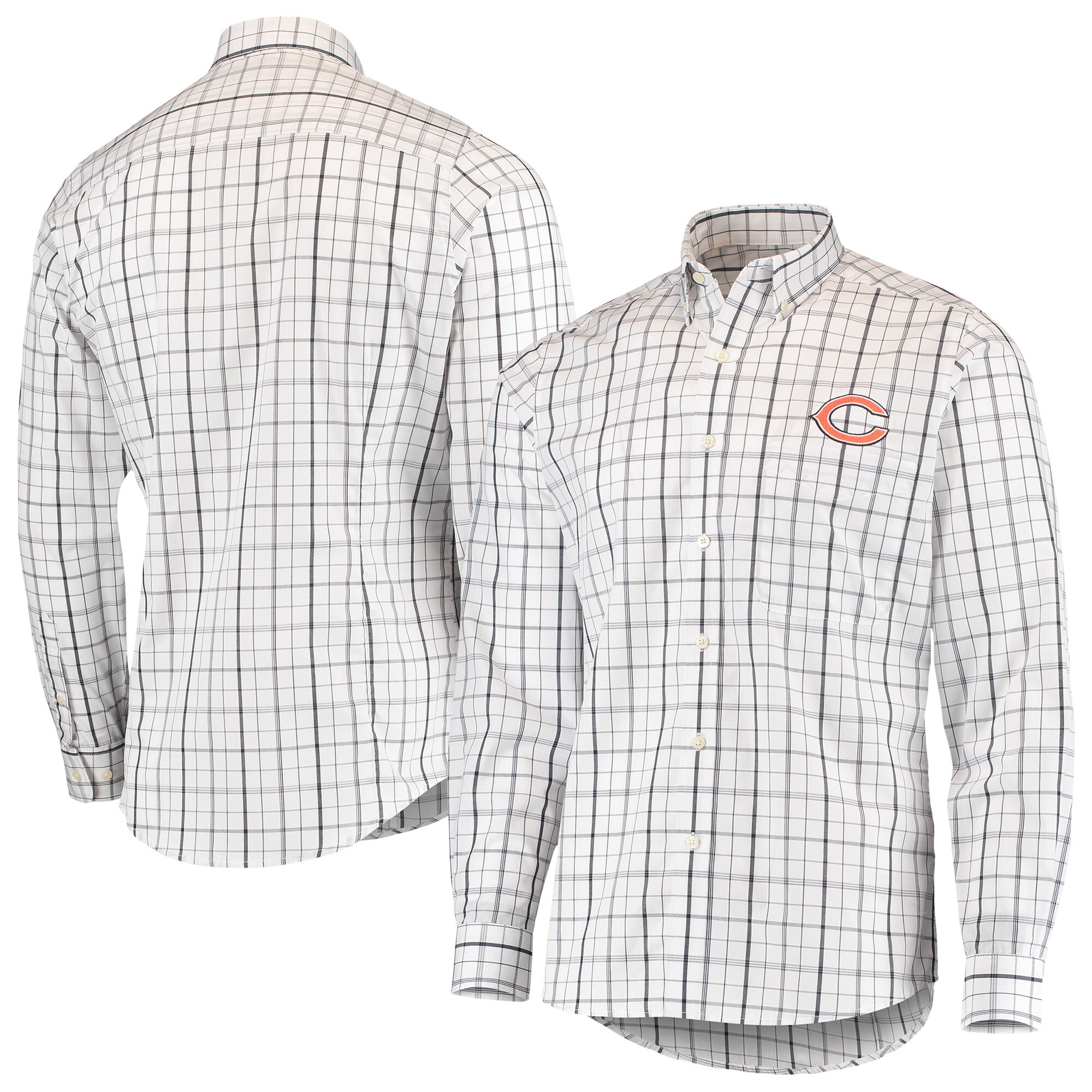 Chicago Bears Antigua Keen Long Sleeve Button-Down Shirt - White/Navy