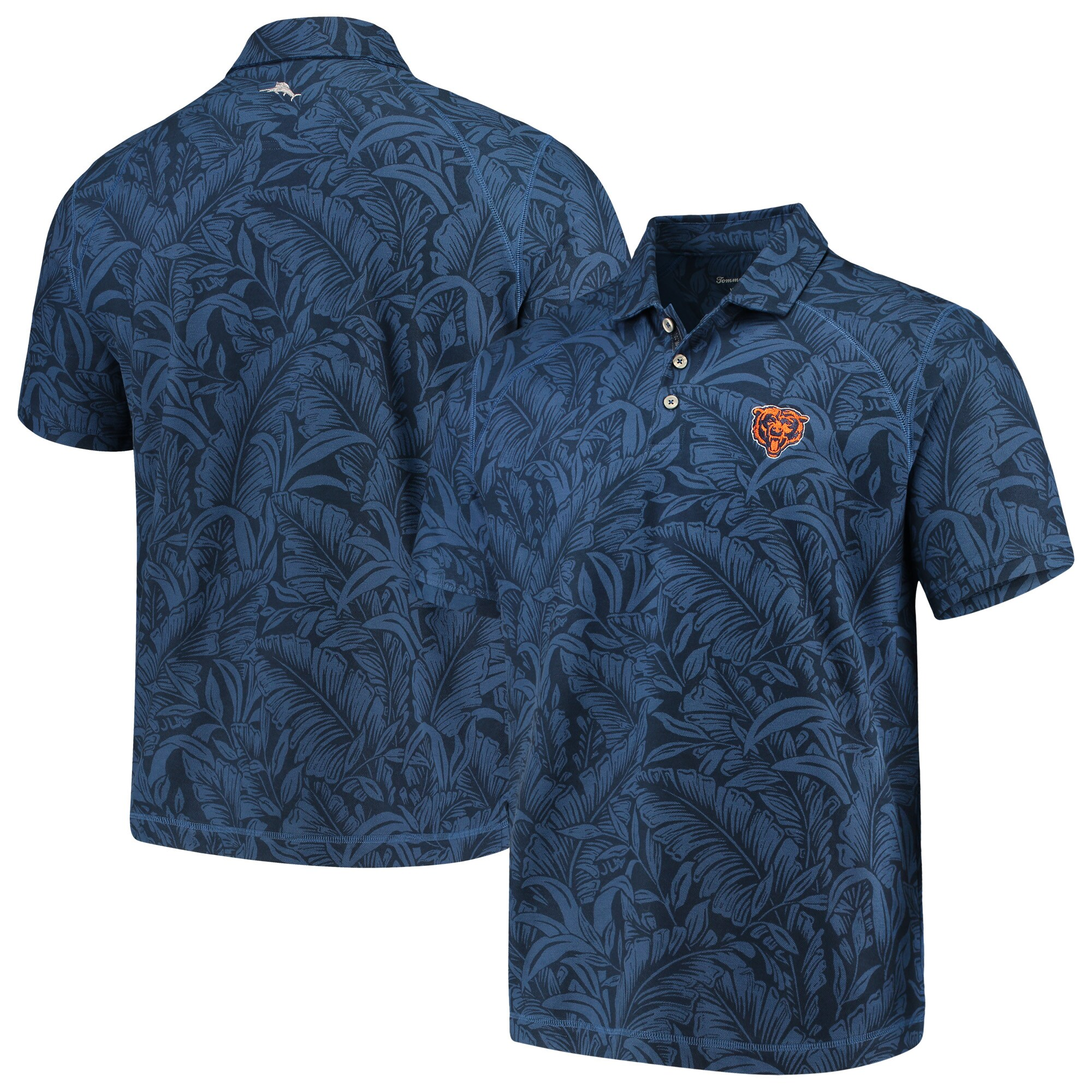 Chicago Bears Tommy Bahama Sport Leafbacker Polo - Navy
