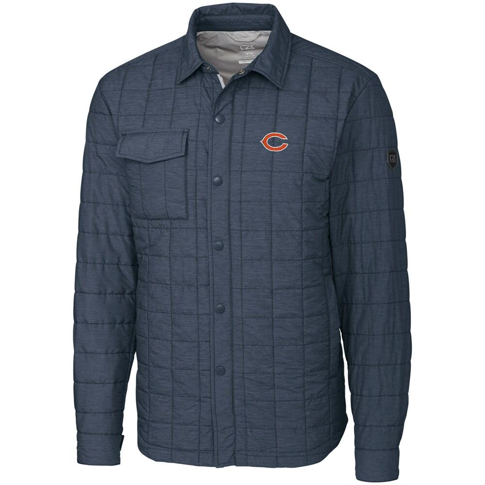 Chicago Bears Cutter & Buck Big & Tall Rainier Shirt Jacket - Charcoal