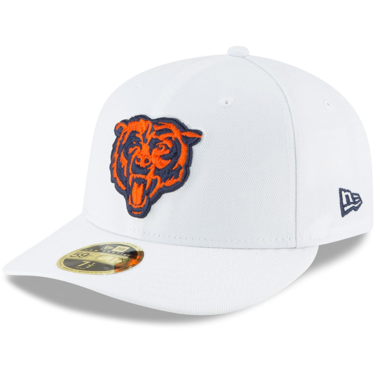 Chicago Bears New Era Alternate Logo Omaha Low Profile 59FIFTY Fitted Hat - White