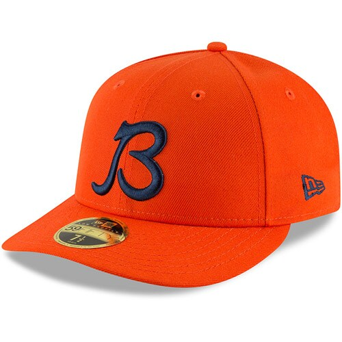 Chicago Bears New Era Alternate Logo Omaha Low Profile 59FIFTY Fitted Hat - Orange