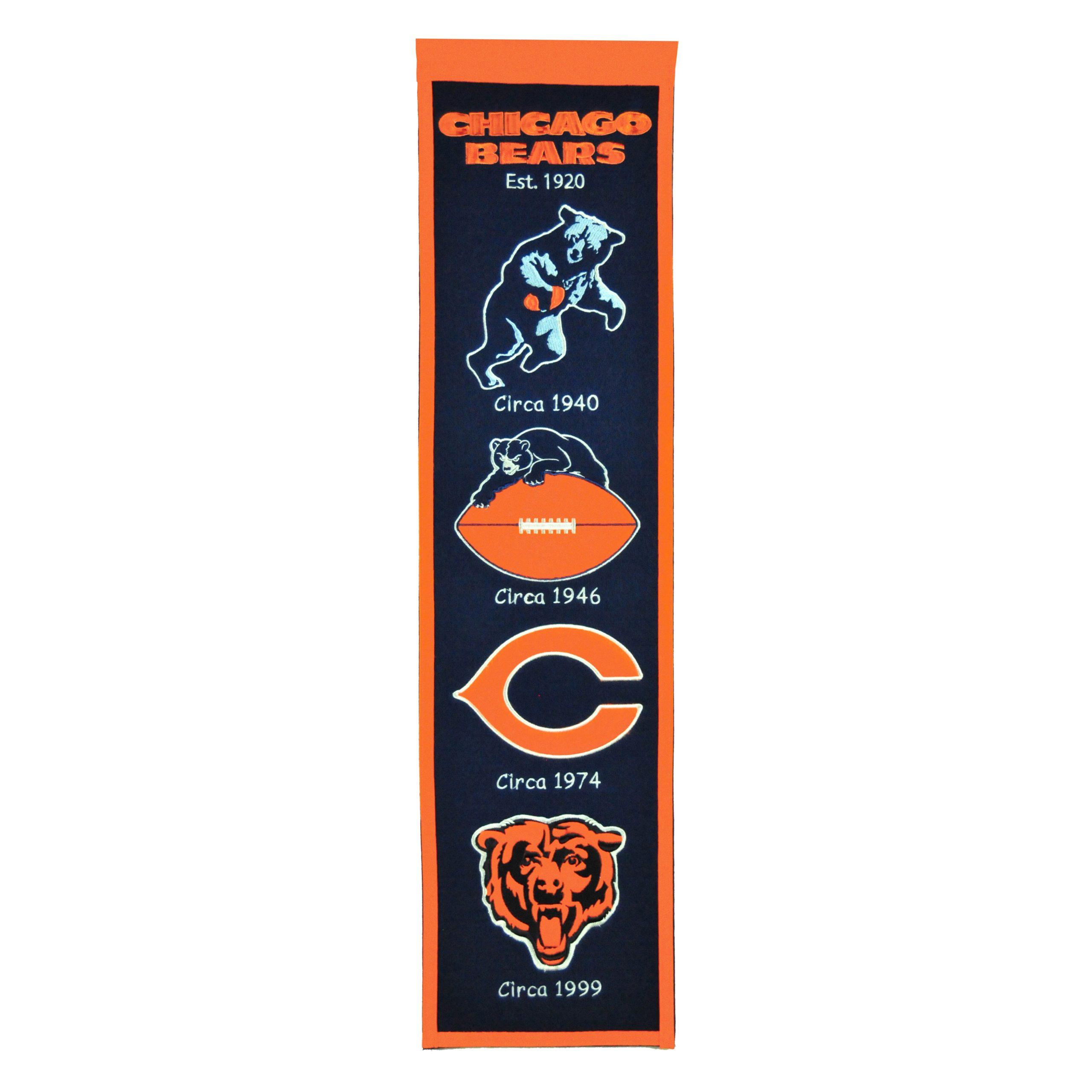 "Chicago Bears 8"" x 32"" Premium Heritage Banner"