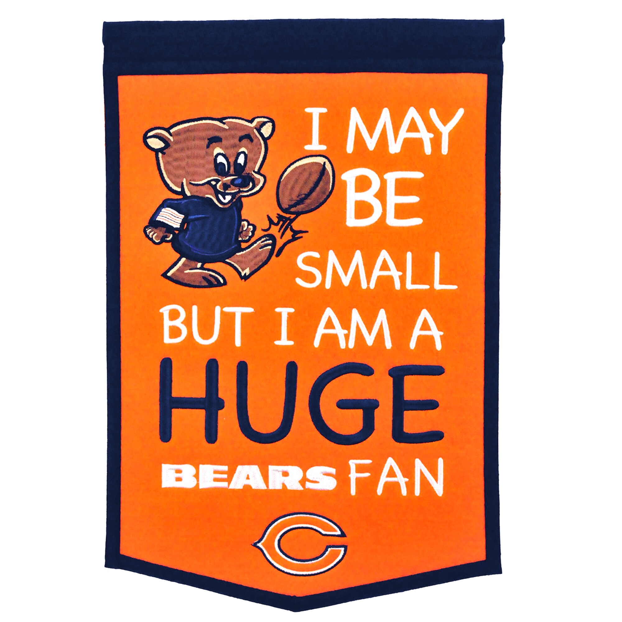 "Chicago Bears 12"" x 18"" Lil Fan Traditions Banner"