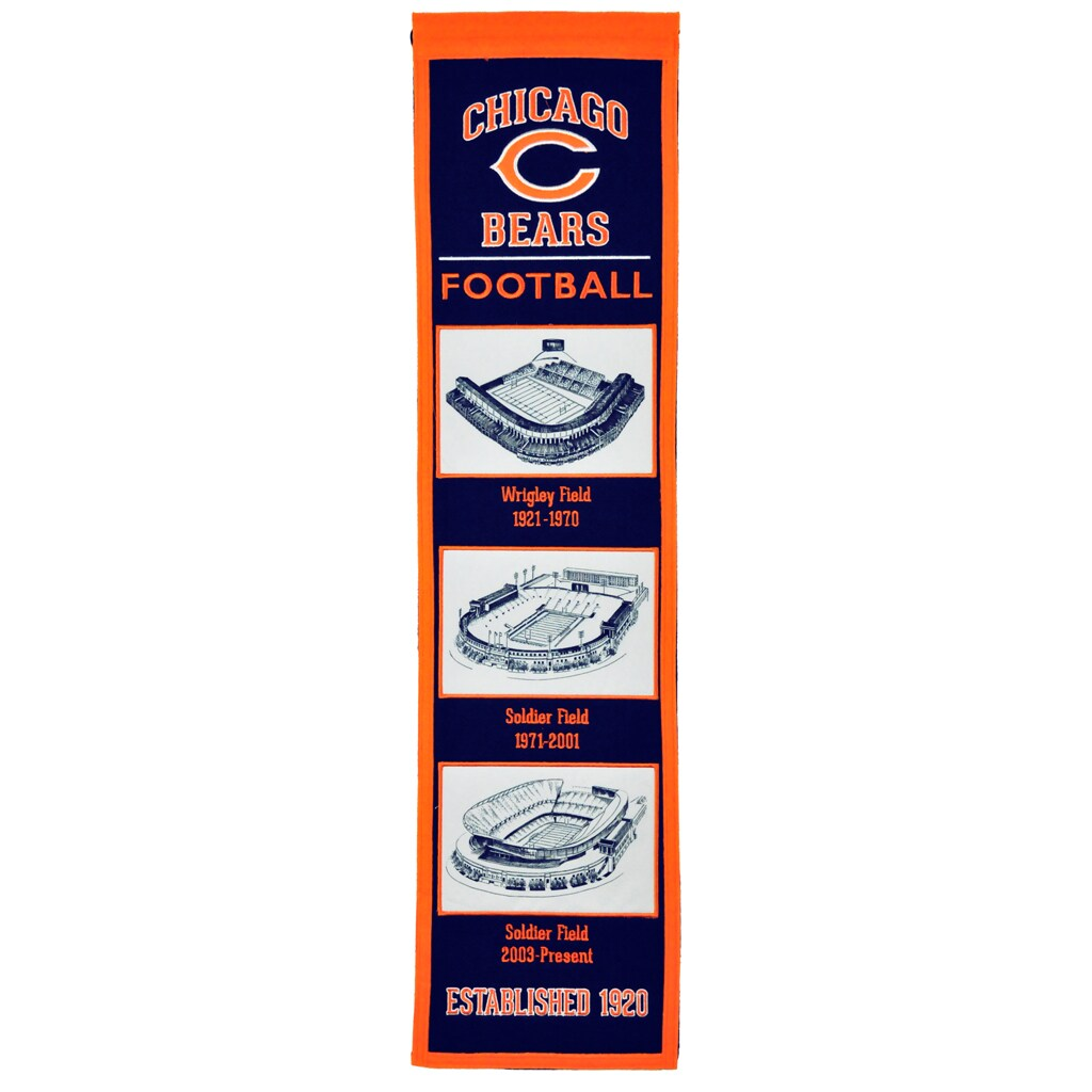 "Chicago Bears 8"" x 32"" Transformation Banner"
