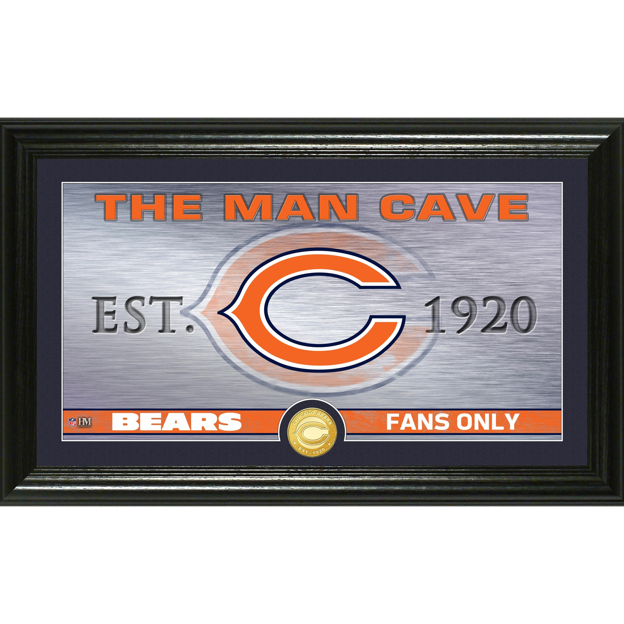 "Chicago Bears Highland Mint 12"" x 20"" Man Cave Photo Mint"