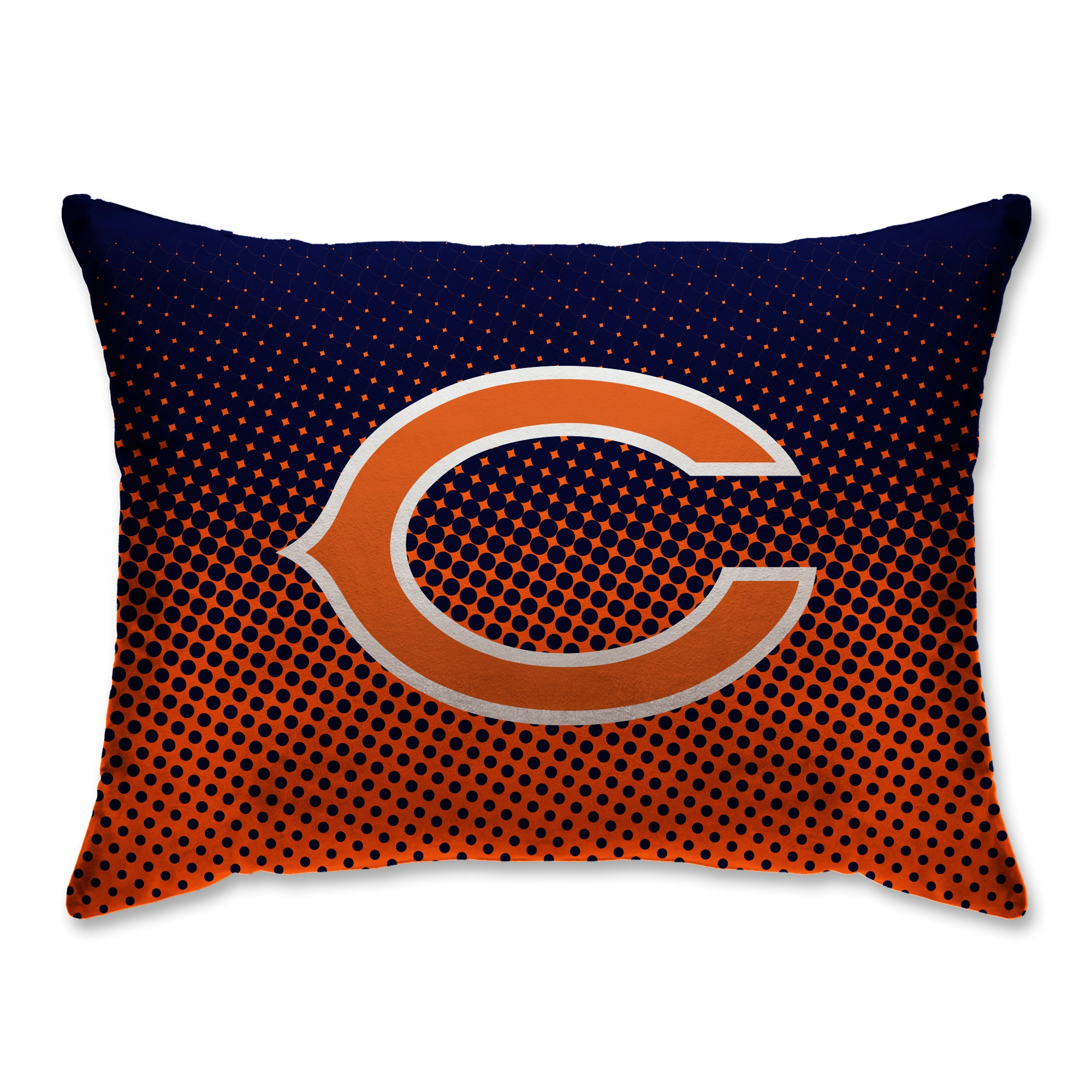 """Chicago Bears 20"""" x 26"""" Dot Decorative Bed Pillow"""