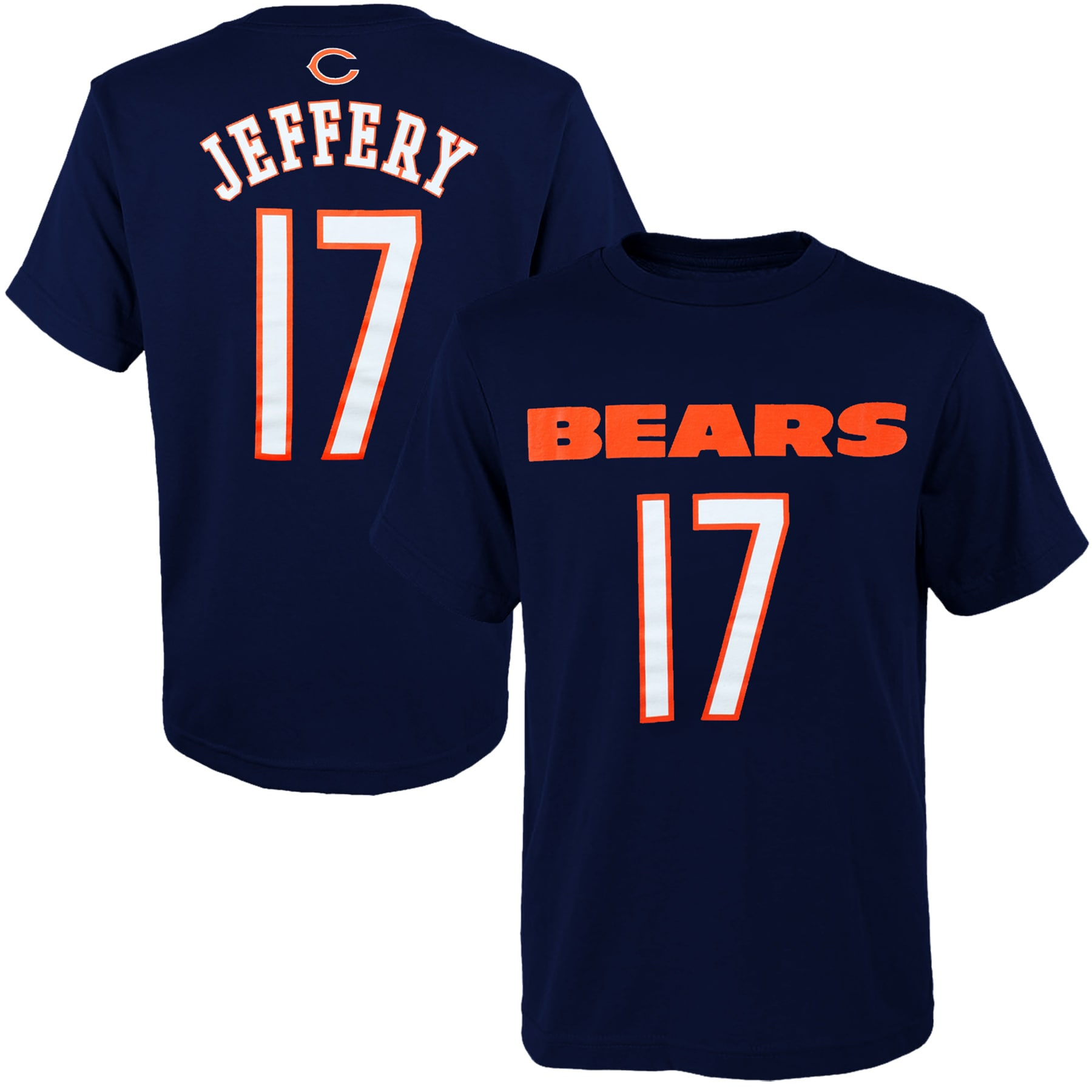 Alshon Jeffery Chicago Bears Youth Primary Gear Player Name & Number T-Shirt - Navy Blue
