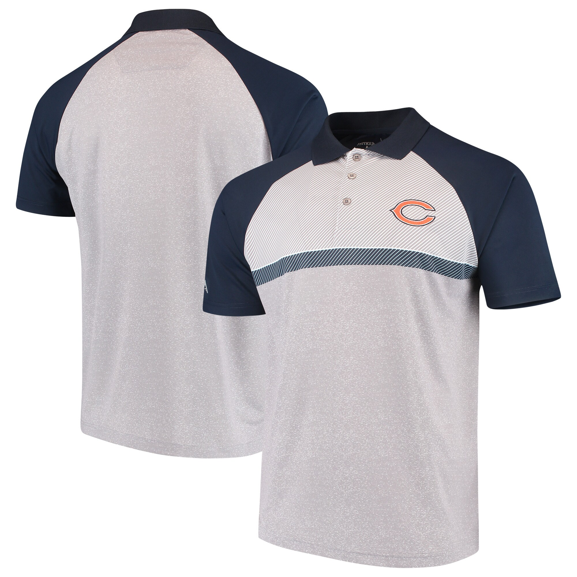Chicago Bears Antigua Momentum Polo - Gray/Navy