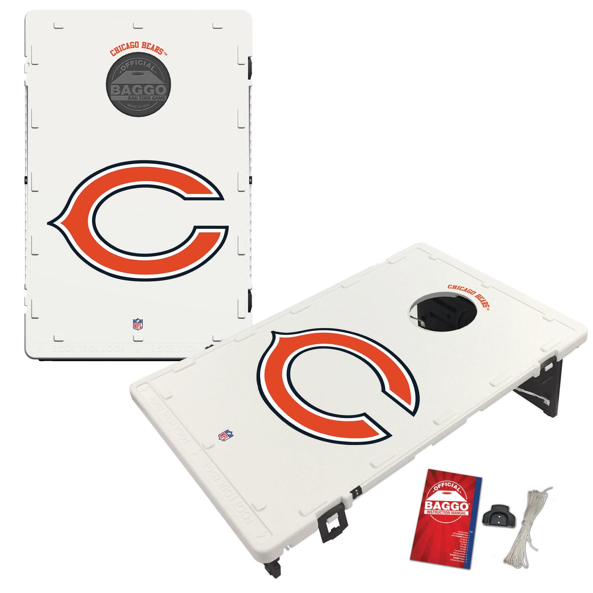 Chicago Bears 2' x 3' Classic Design BAGGO Cornhole Board Tailgate Toss Set