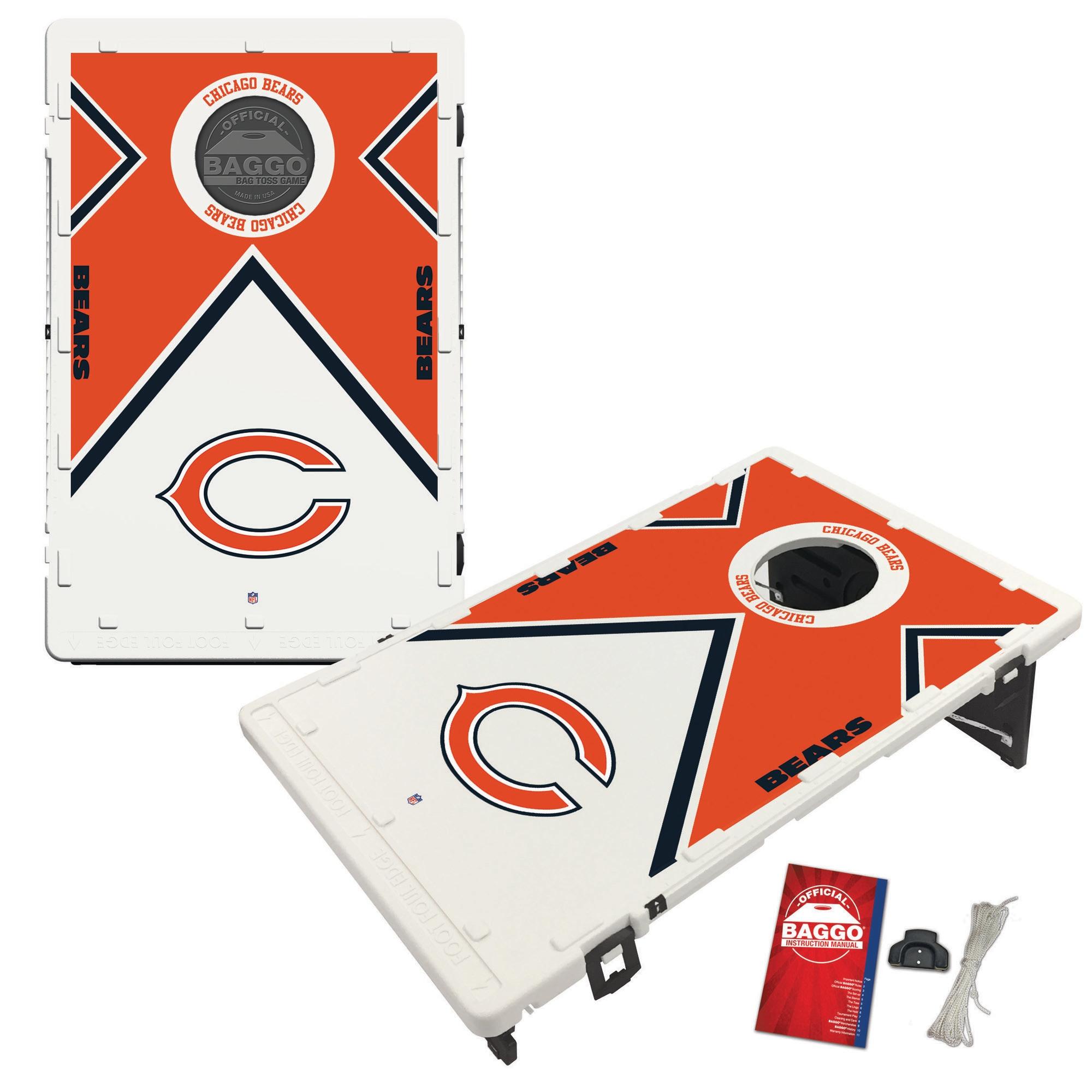 Chicago Bears 2' x 3' BAGGO Vintage Cornhole Board Tailgate Toss Set