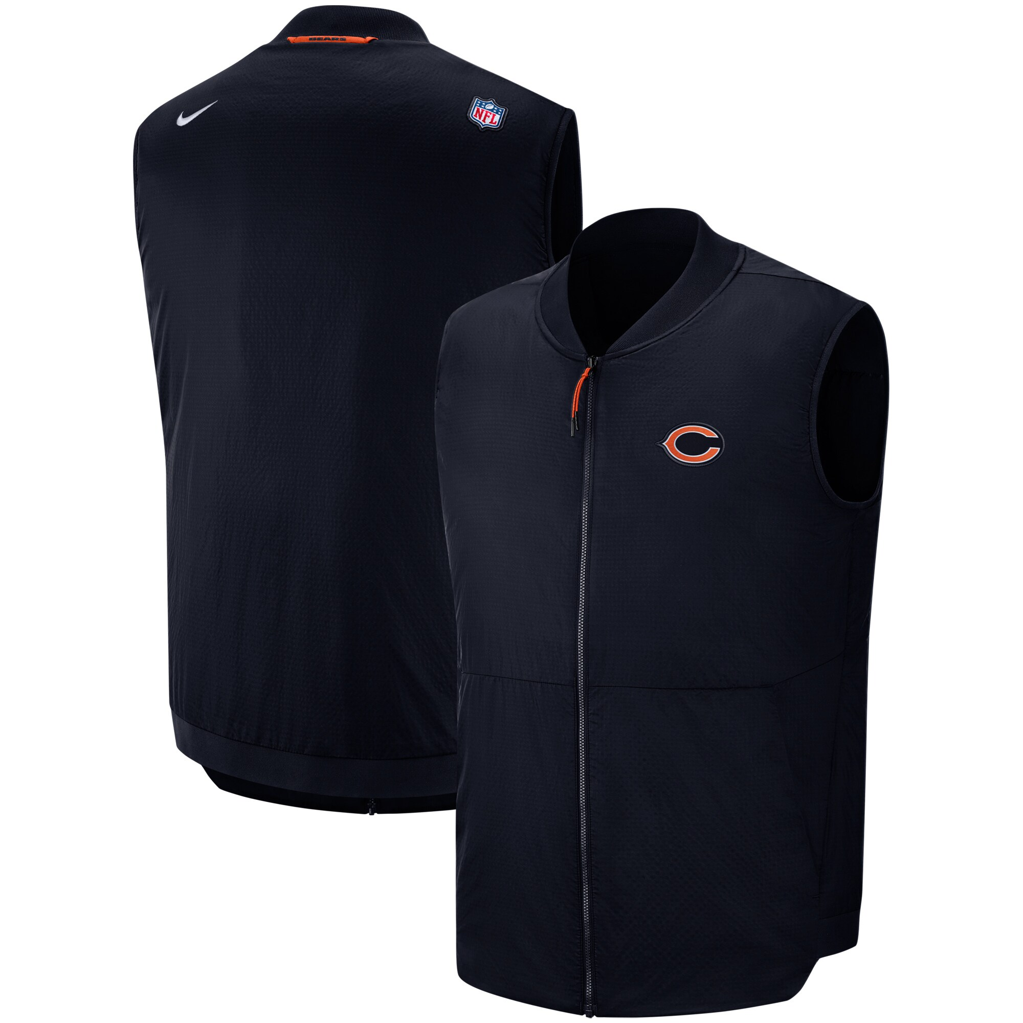 Chicago Bears Nike Sideline Full-Zip Vest - Navy