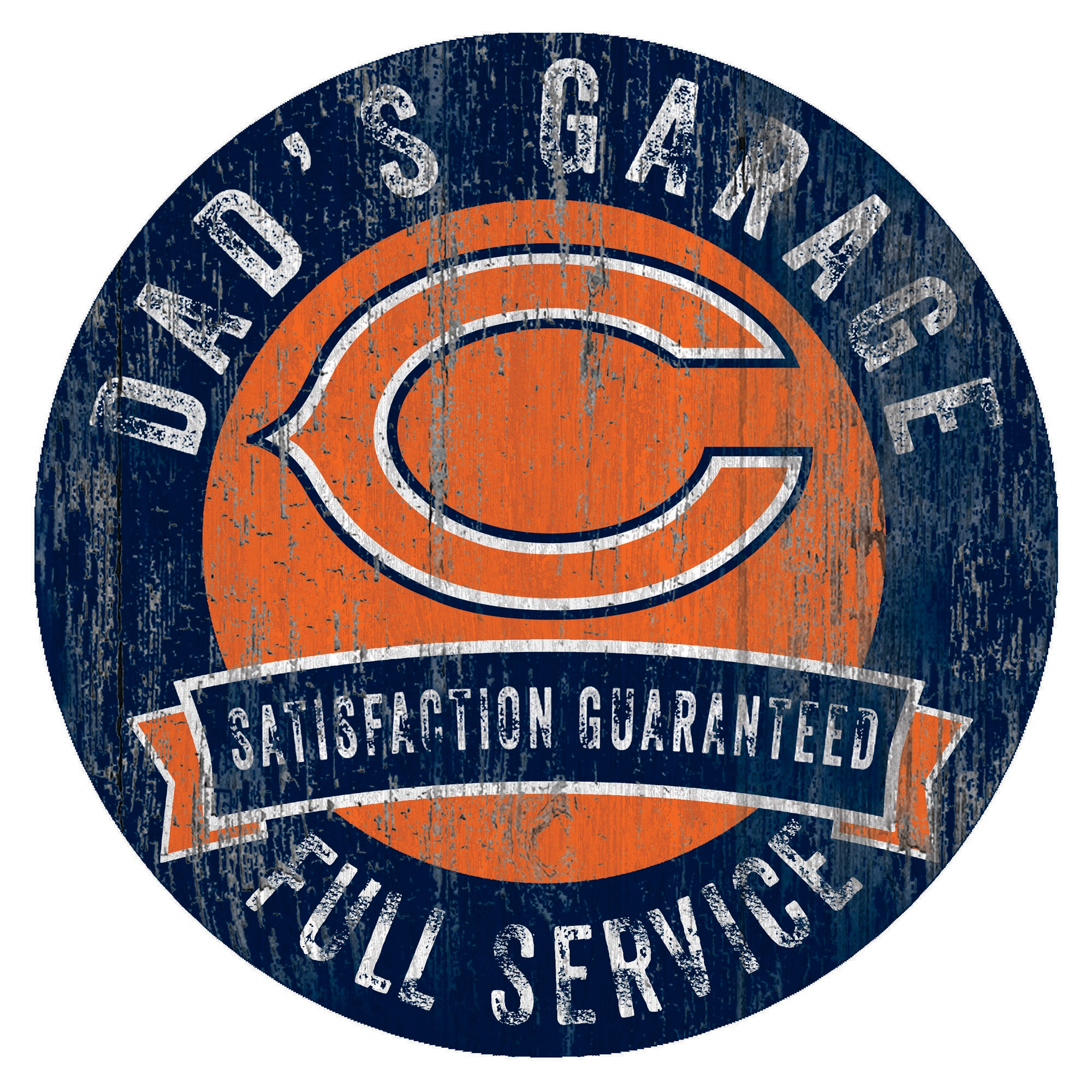 "Chicago Bears 12"" x 12"" Dad's Garage Sign"