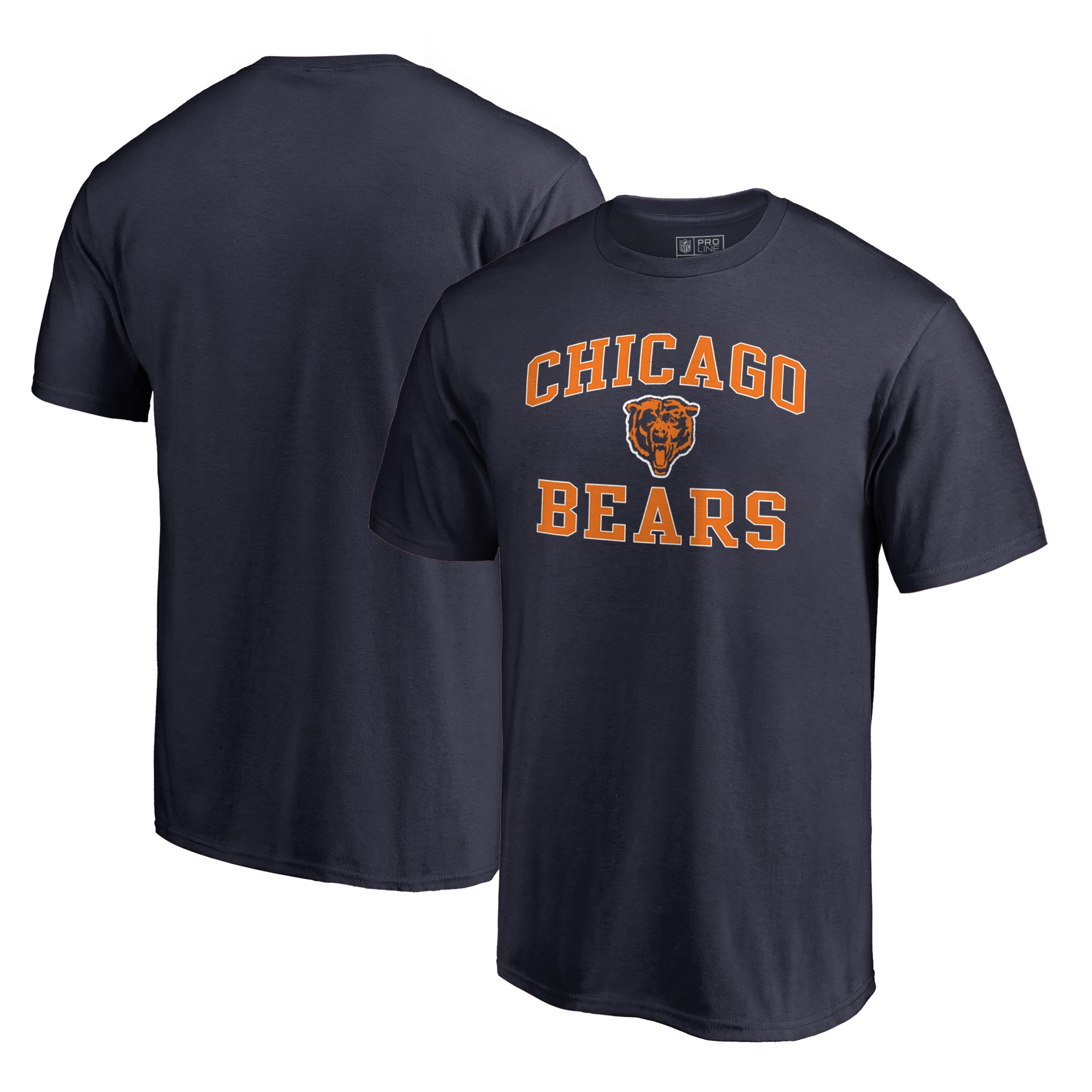 Chicago Bears NFL Pro Line by Fanatics Branded Vintage Collection Victory Arch T-Shirt - Navy