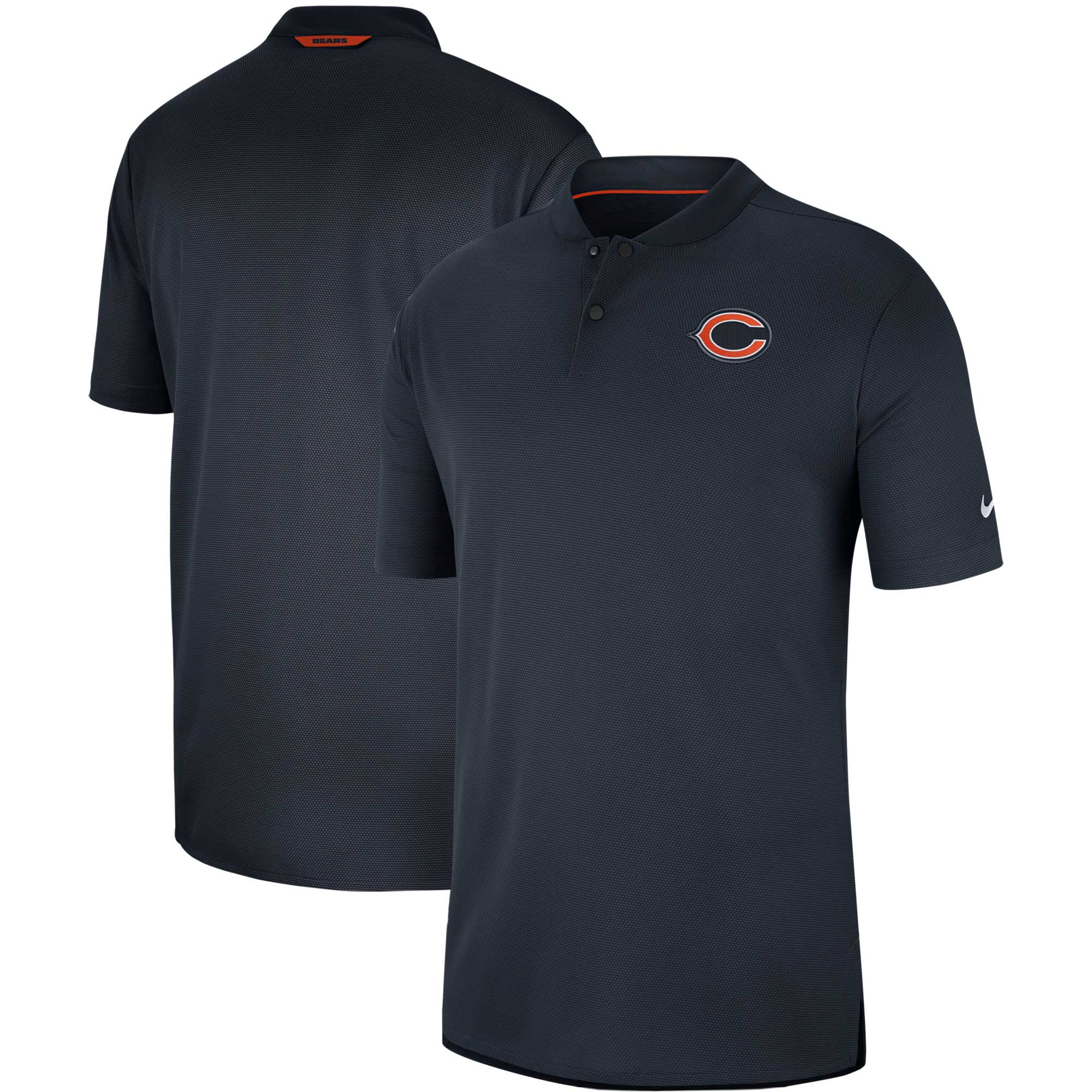 Chicago Bears Nike Sideline Elite Coaches Performance Polo - Navy