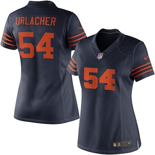 Brian Urlacher Chicago Bears Nike Women's Alternate Limited Jersey - Navy Blue
