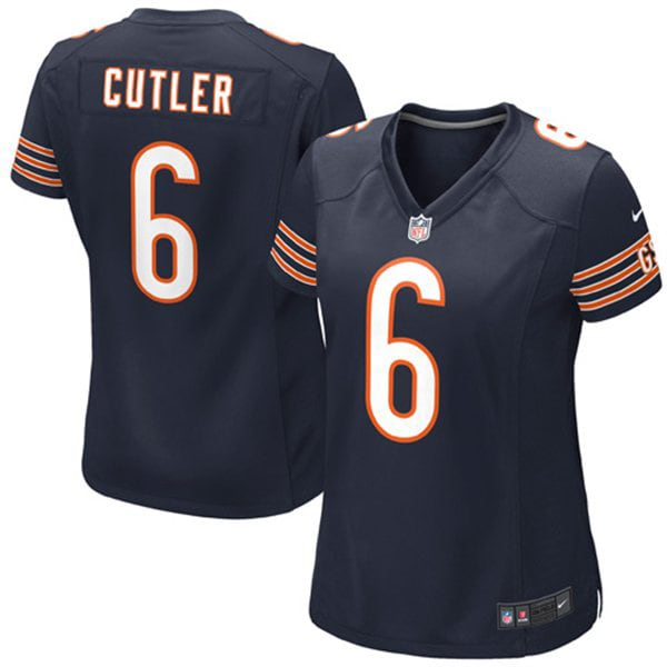 Jay Cutler Chicago Bears Nike Girls Youth Game Jersey - Navy Blue