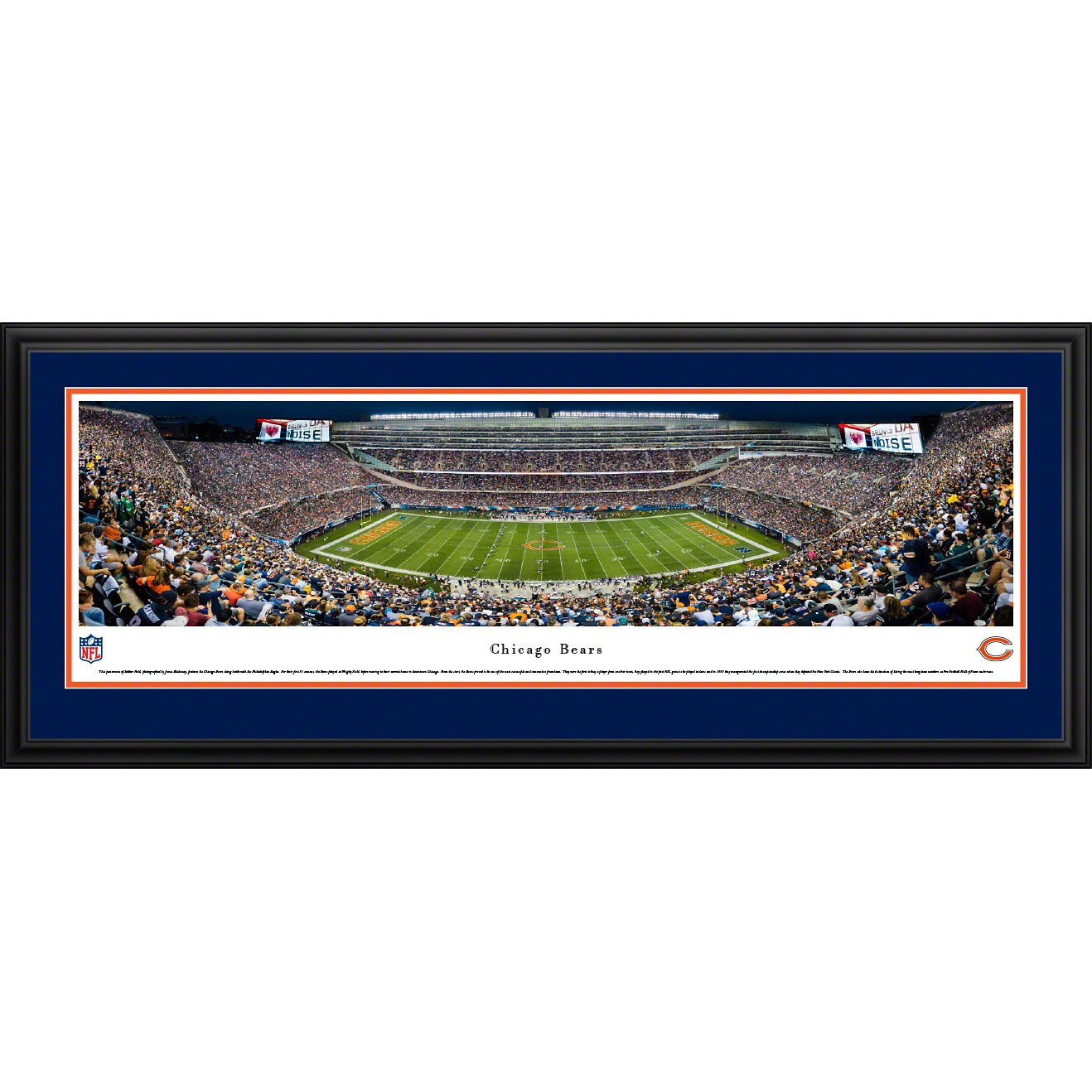 """Chicago Bears 18"""" x 44"""" Deluxe Frame Panoramic Photo"""