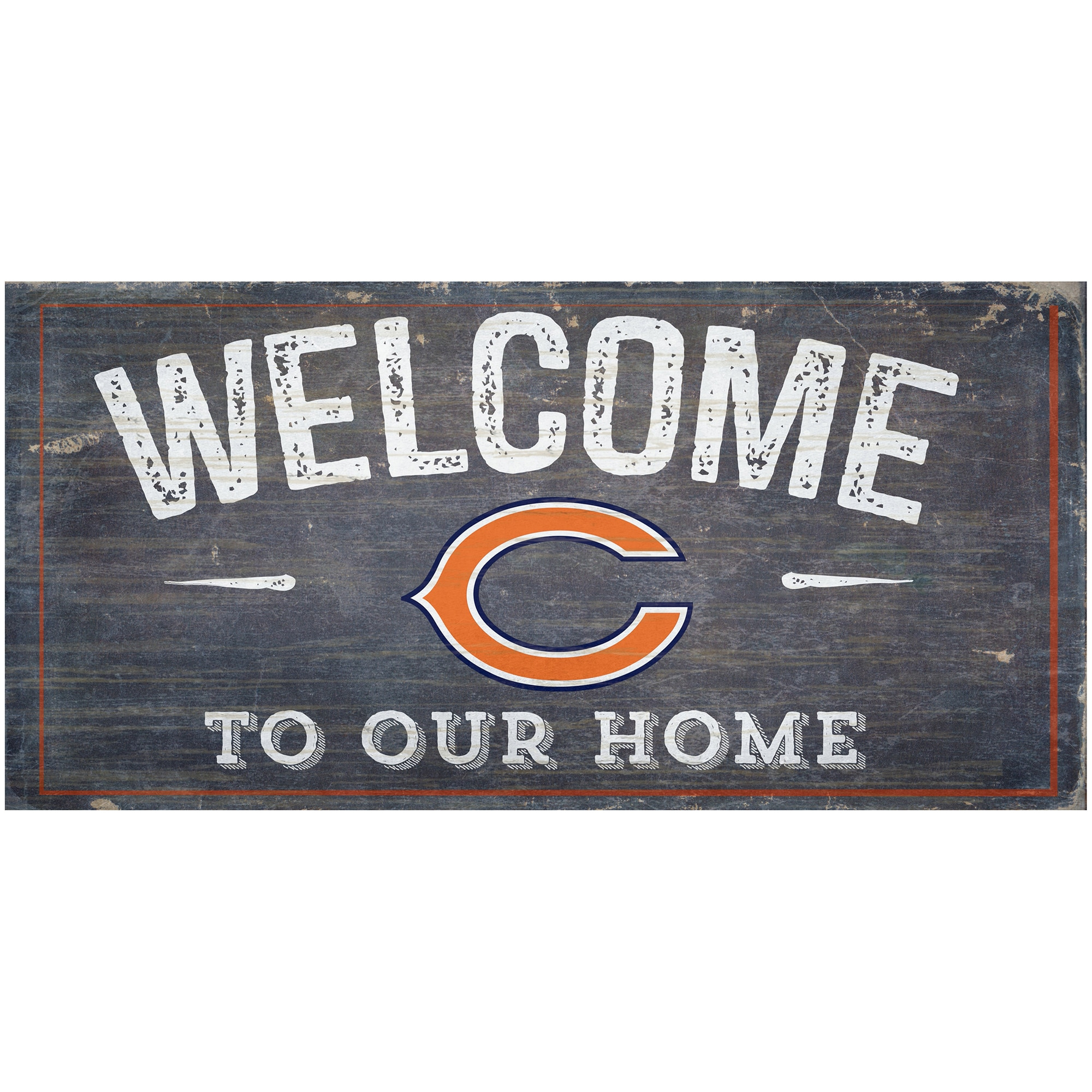 "Chicago Bears 6"" x 12"" Welcome To Our Home Sign"