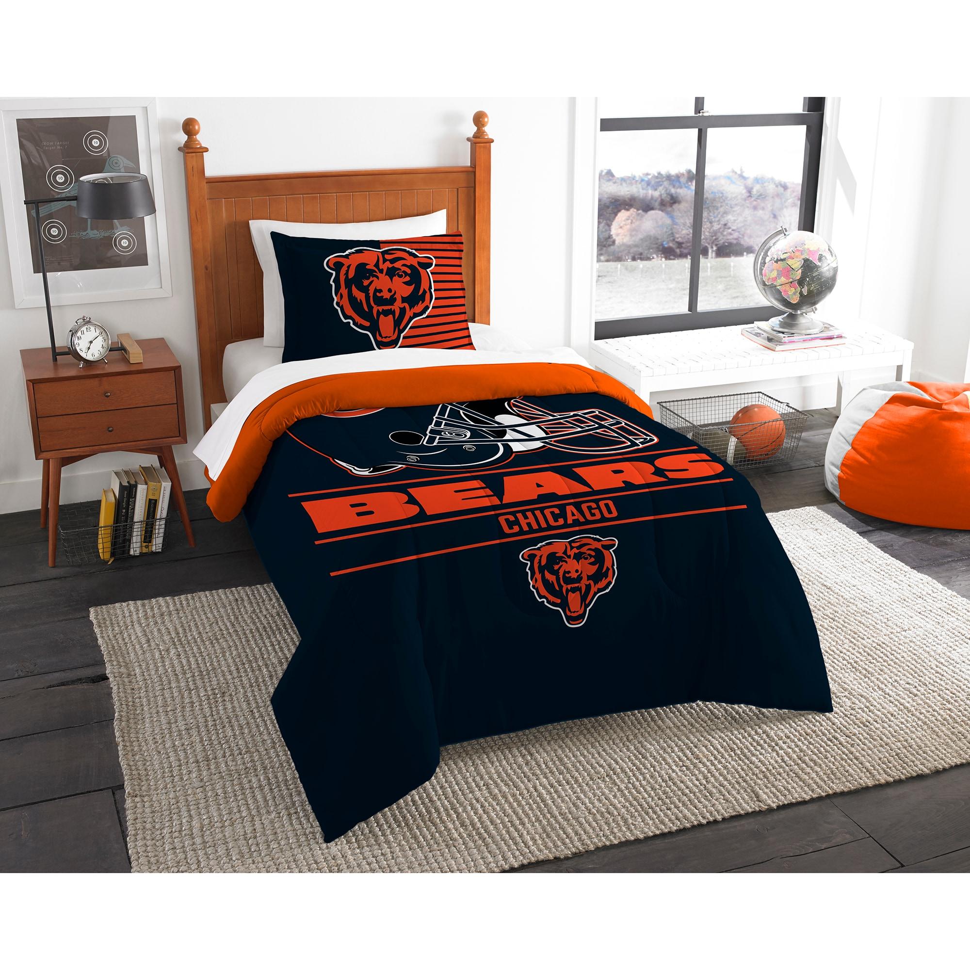 Chicago Bears The Northwest Company NFL Draft Twin Comforter Set