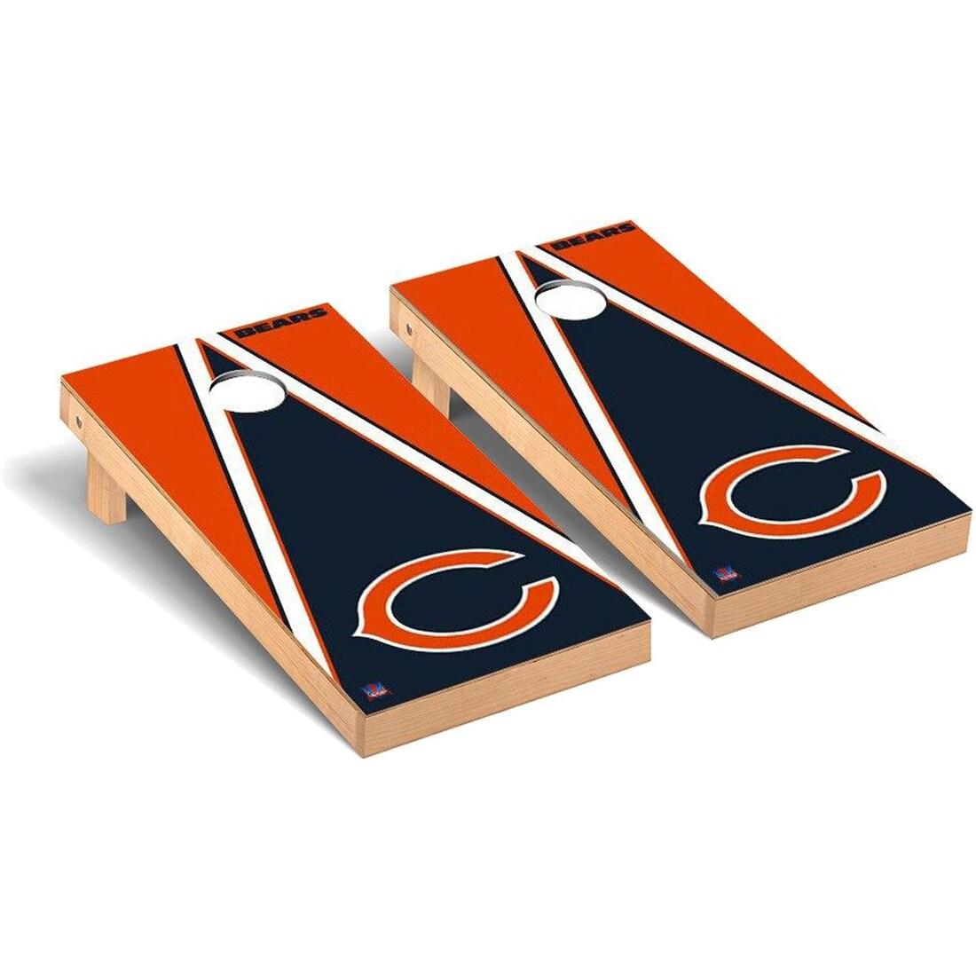 Chicago Bears 2' x 4' Triangle Cornhole Board Tailgate Toss Set