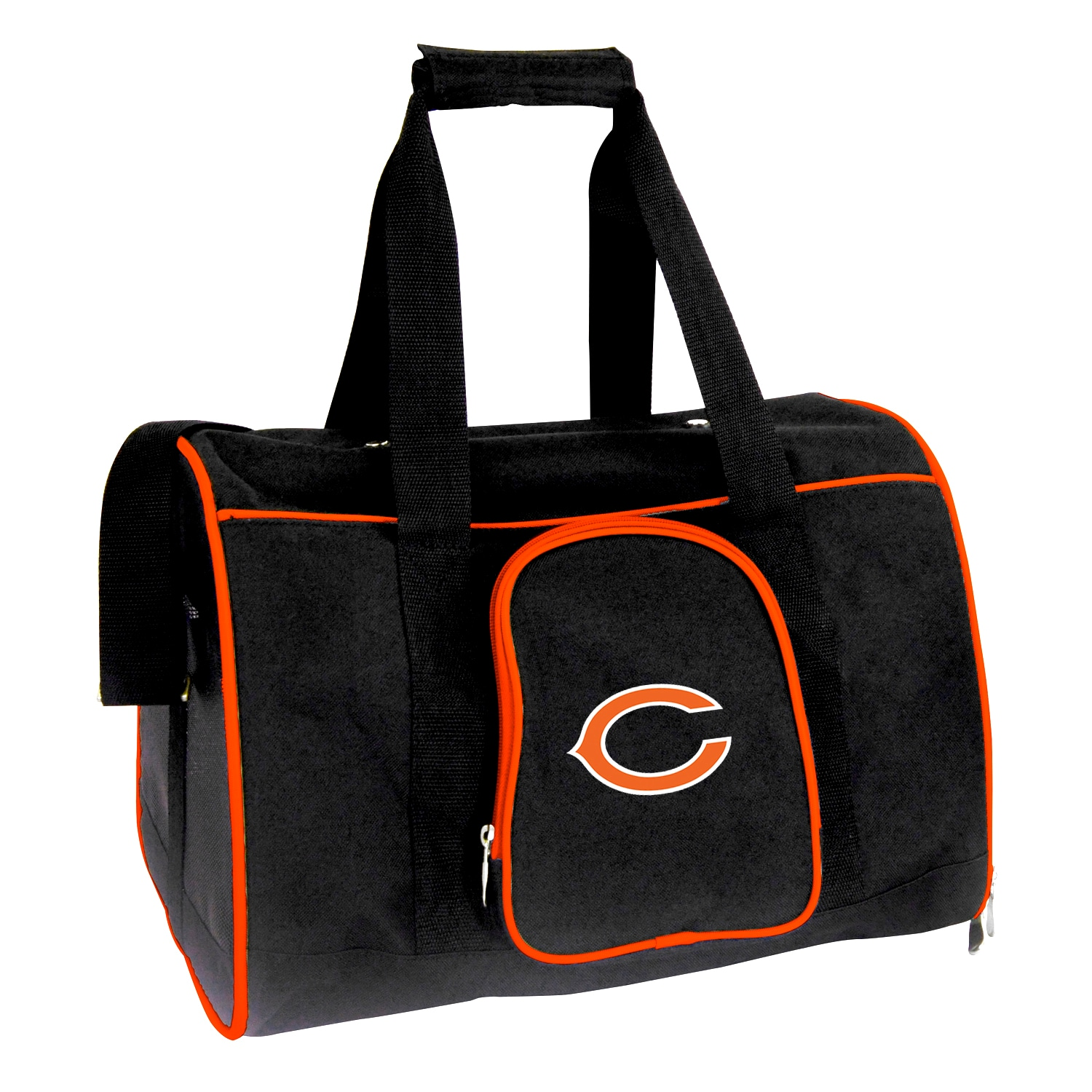 """Chicago Bears Small 16"""" Pet Carrier - Black"""