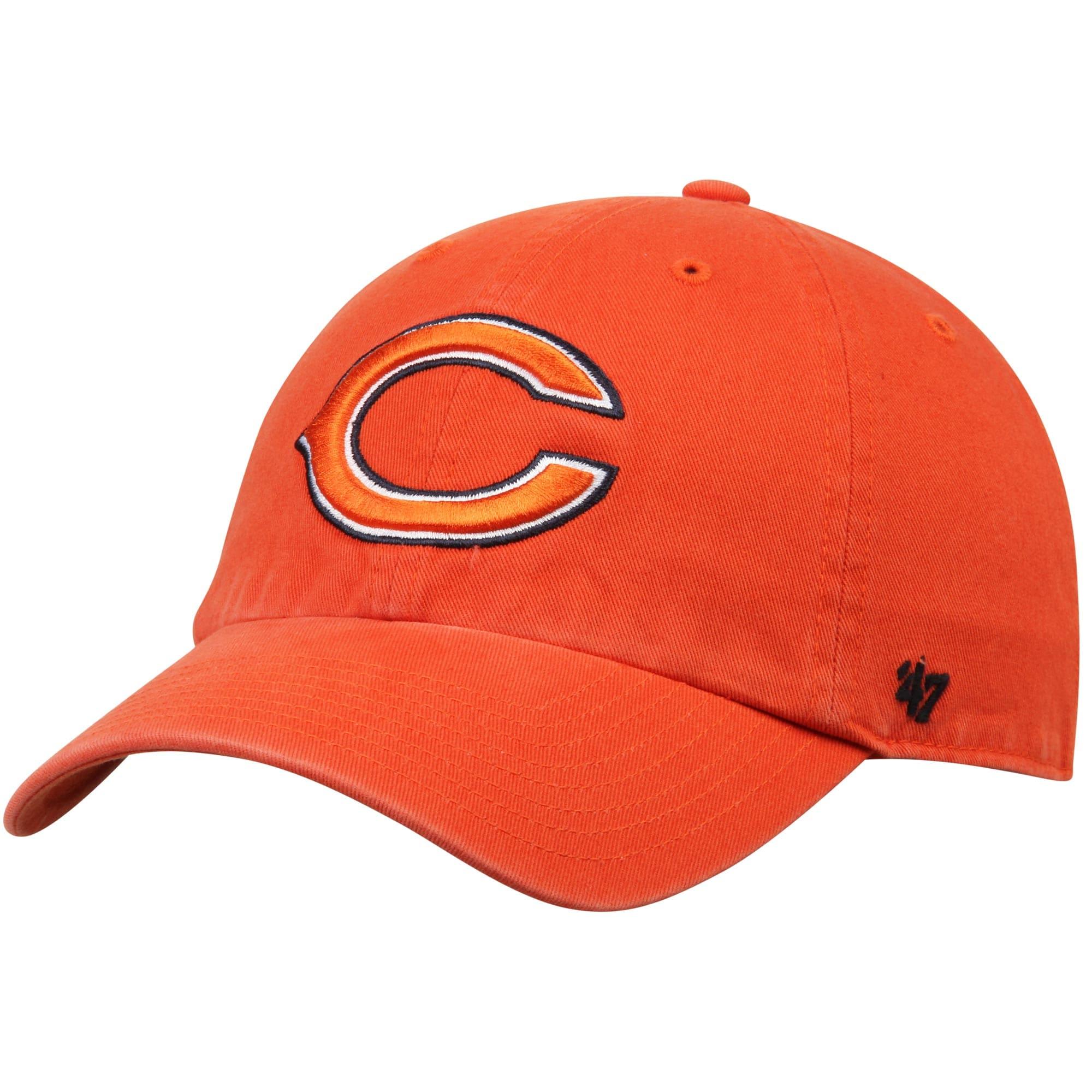 Chicago Bears '47 Clean Up Adjustable Hat - Orange