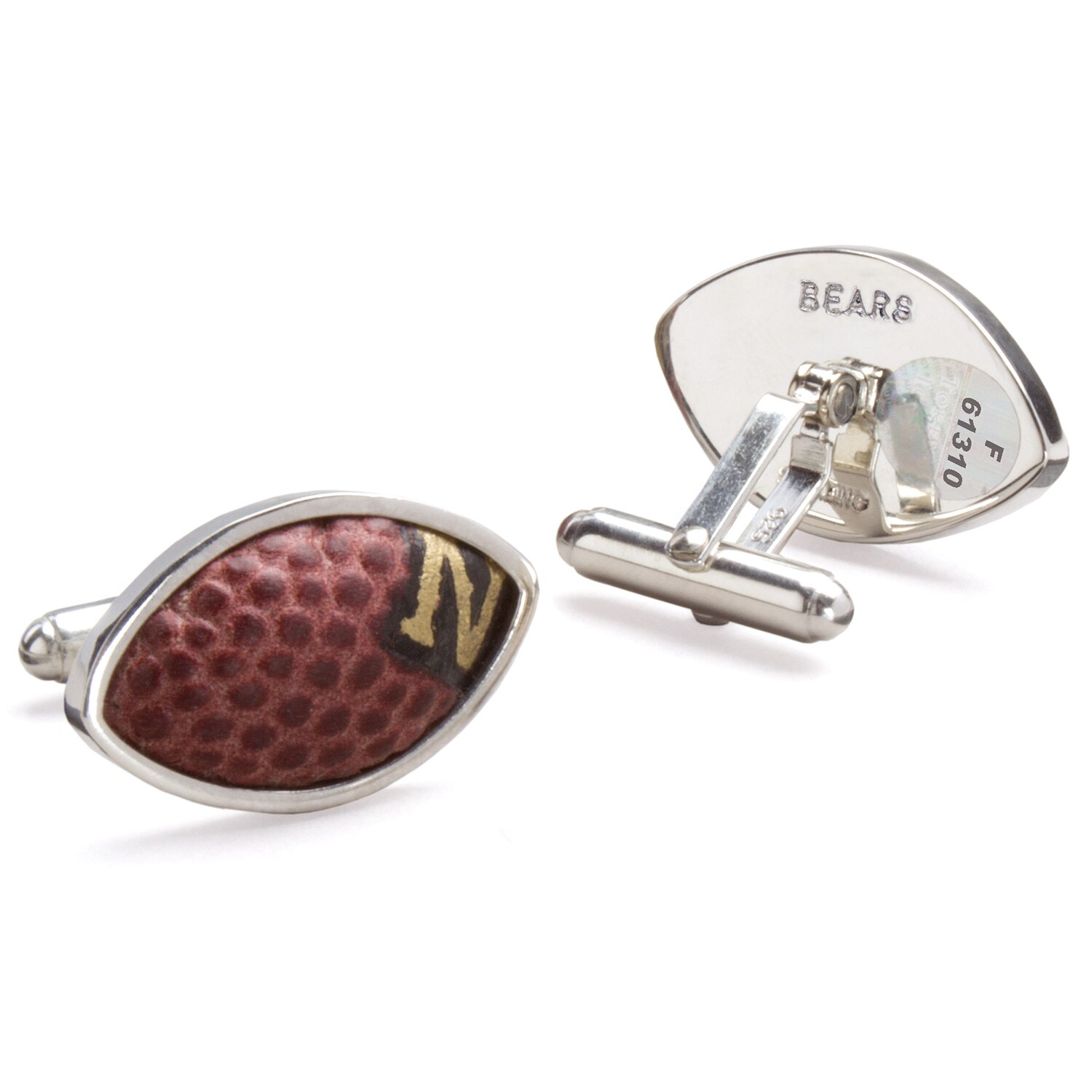 Chicago Bears Tokens & Icons Game-Used Football Cuff Links