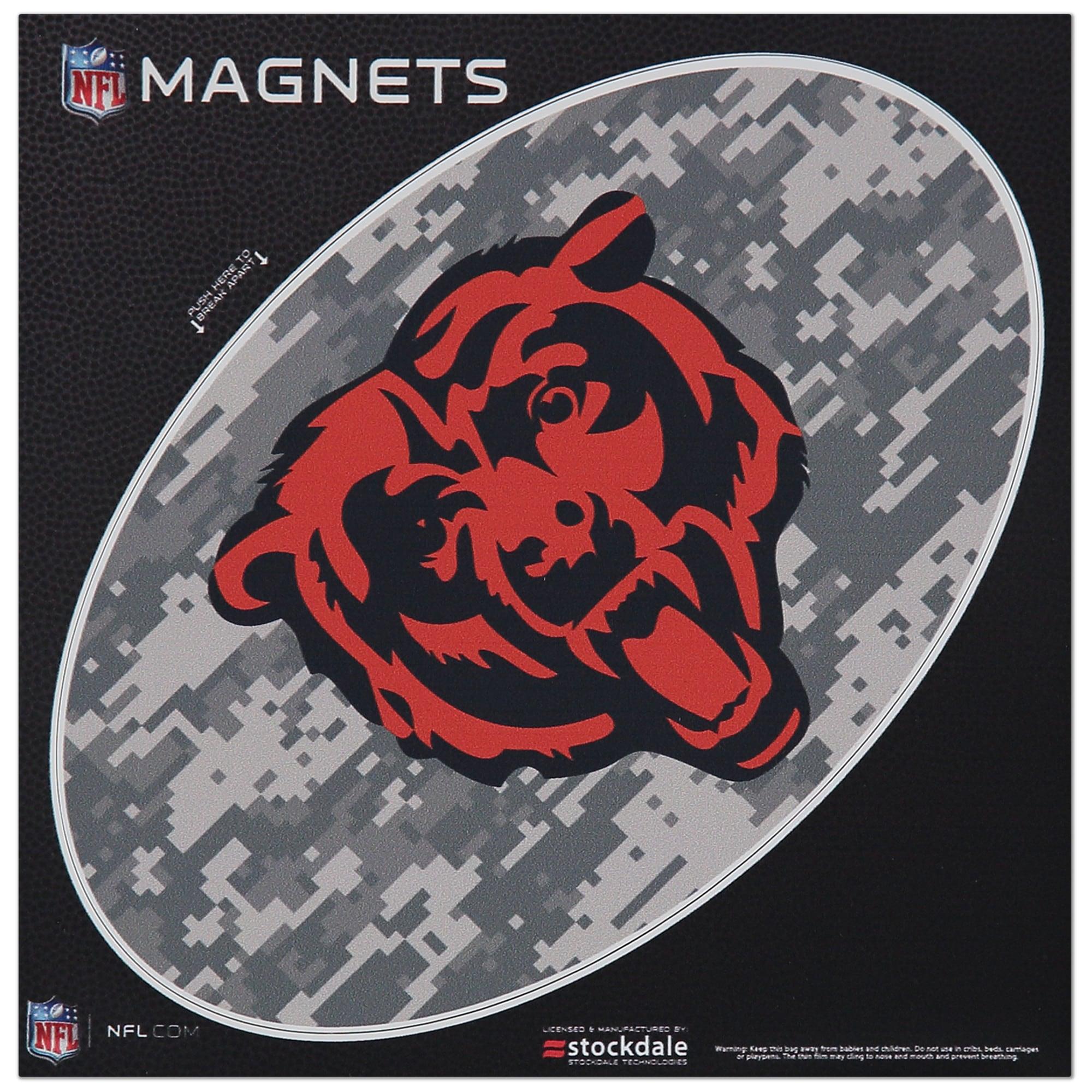 """Chicago Bears 6"""" x 6"""" Digi Camo Oval Car Magnet"""