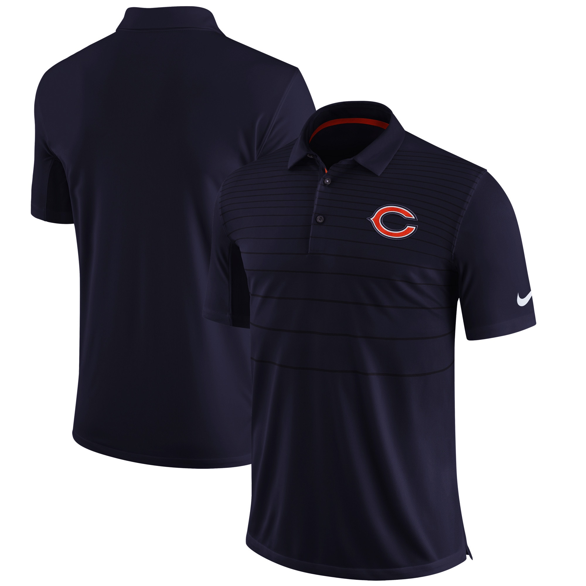 Chicago Bears Nike Sideline Early Season Performance Polo - Navy