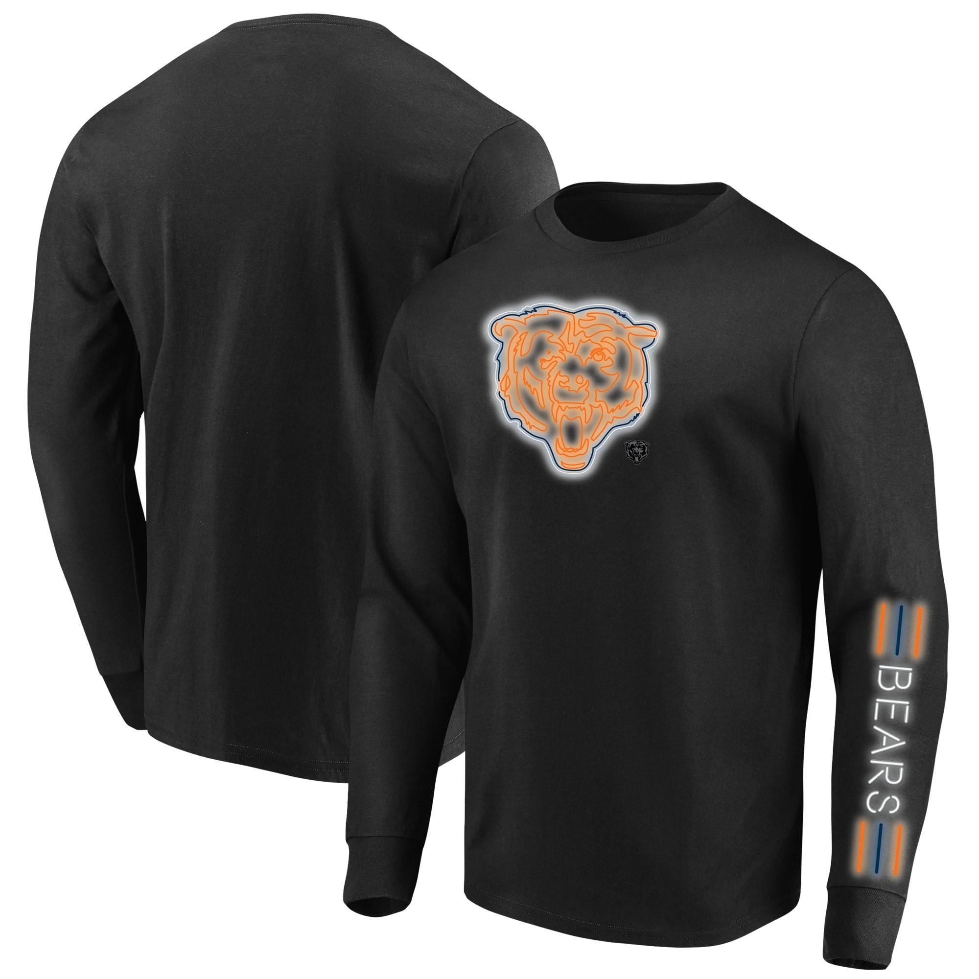 Chicago Bears Majestic Big & Tall Startling Success Long Sleeve T-Shirt - Black