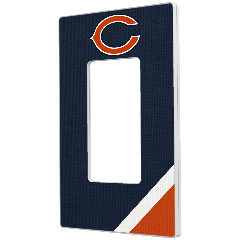 Chicago Bears Diagonal Stripe Single Rocker Light Switch Plate