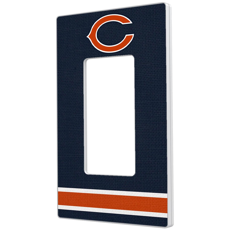 Chicago Bears Stripe Single Rocker Light Switch Plate