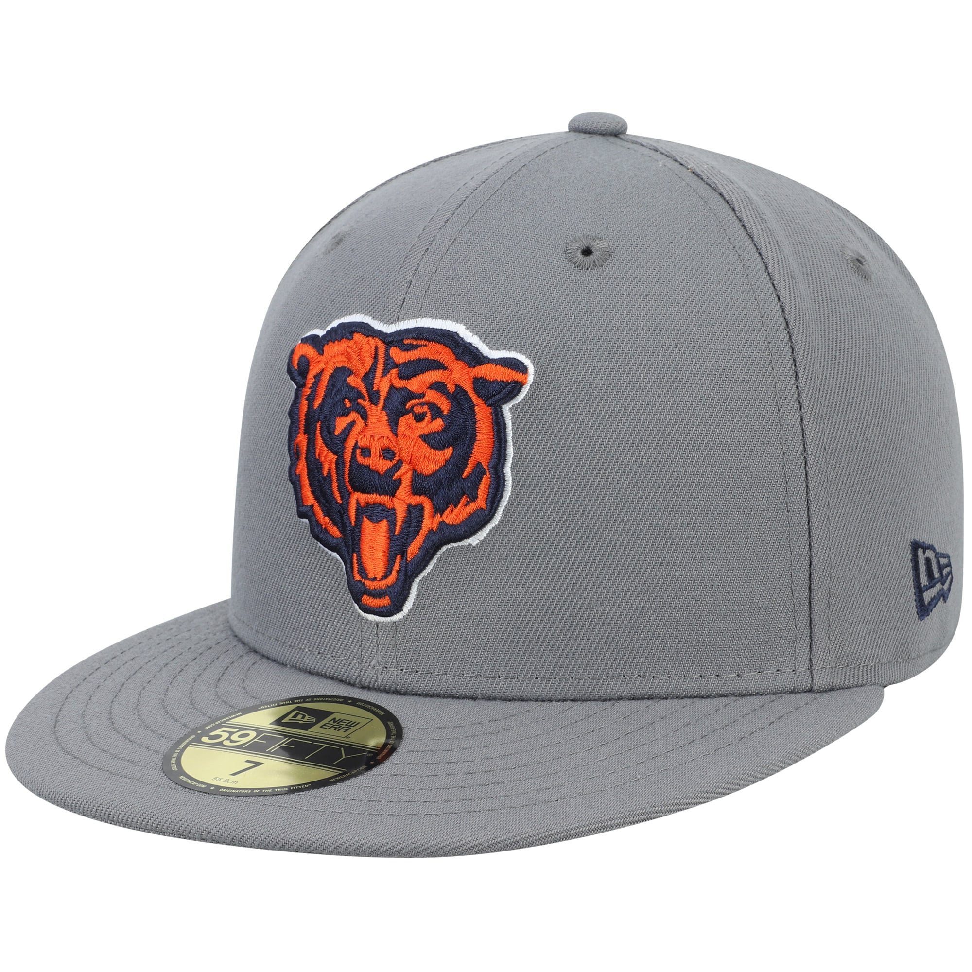Chicago Bears New Era Alternate Logo Storm 59FIFTY Fitted Hat - Graphite