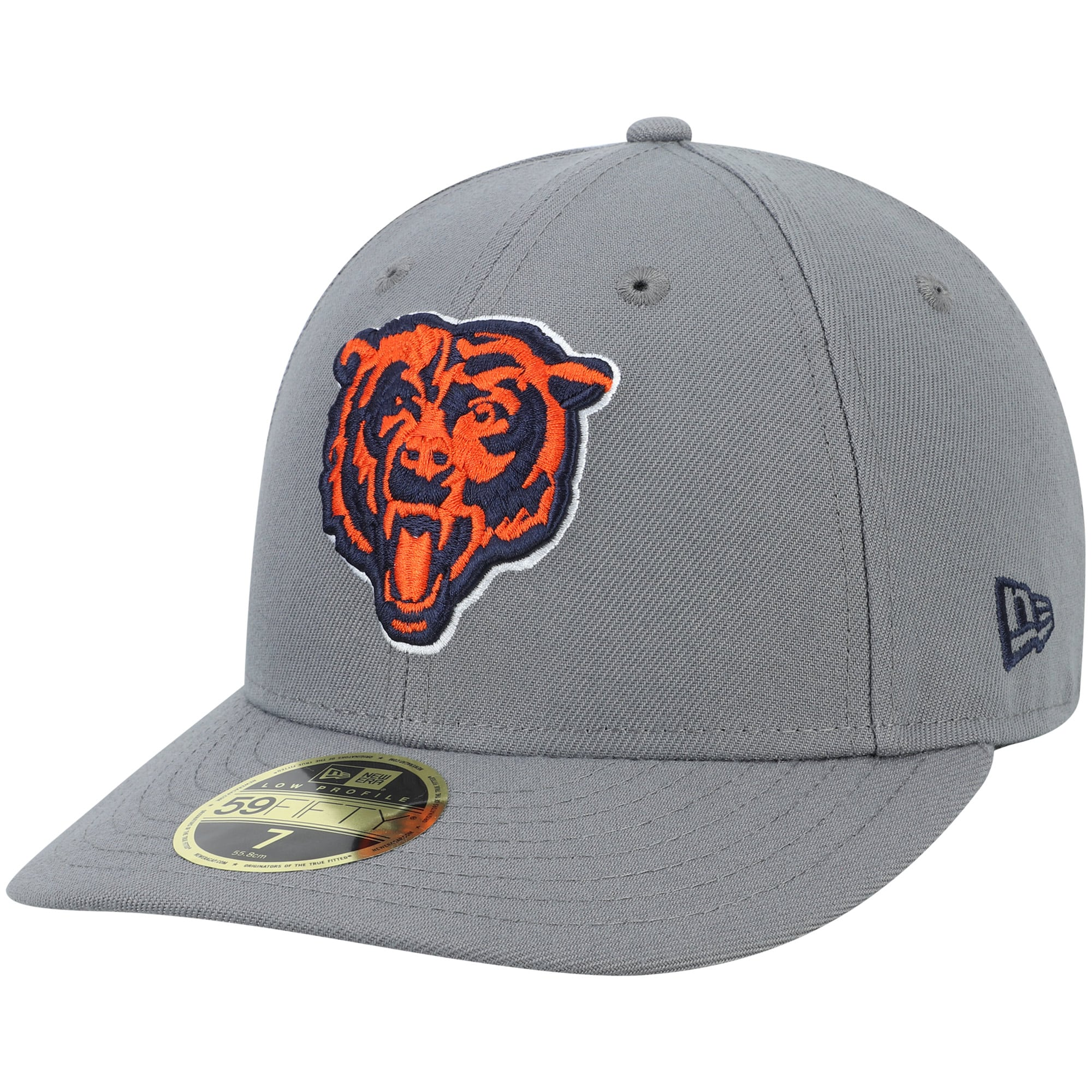 Chicago Bears New Era Alternate Logo Storm Low Profile 59FIFTY Fitted Hat - Graphite