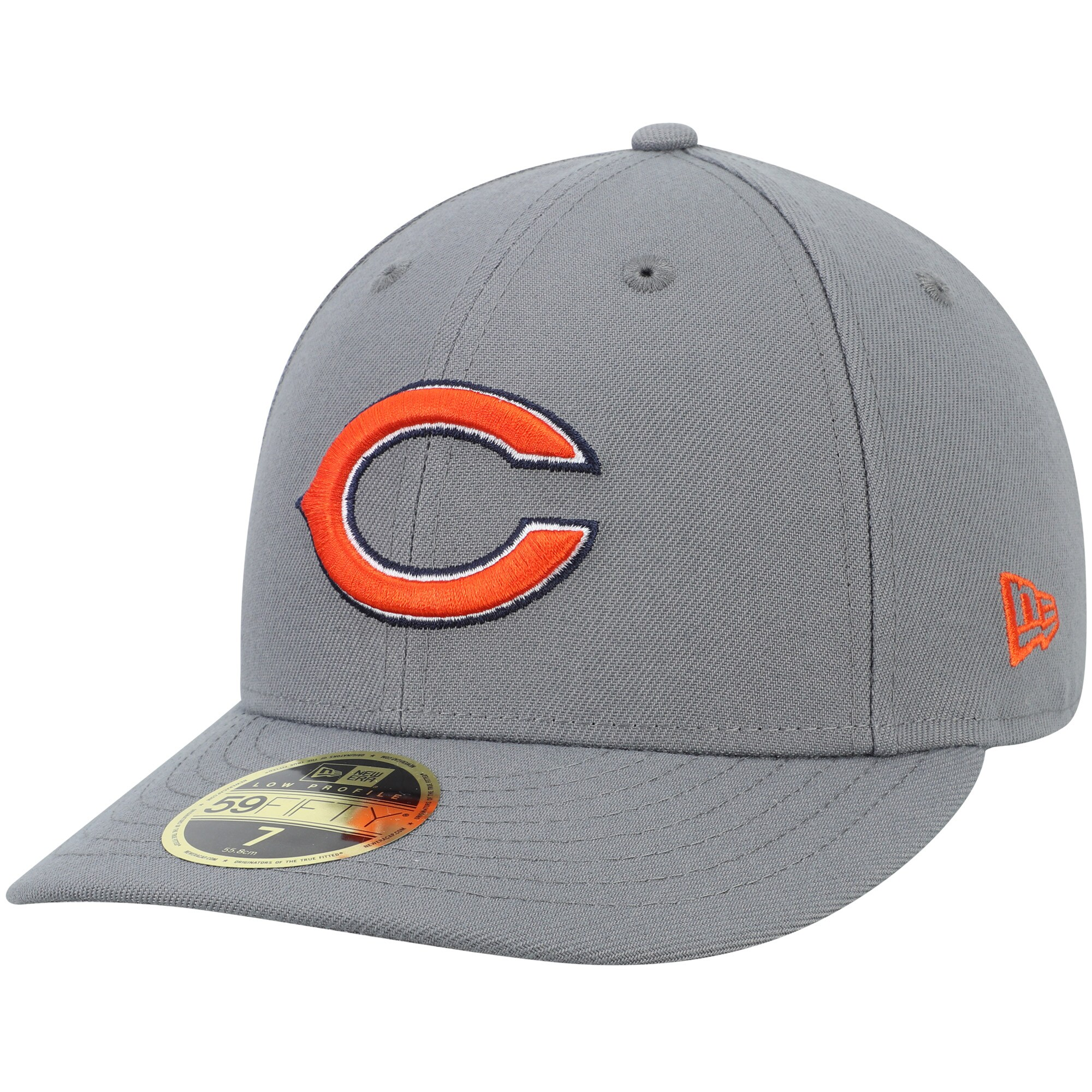Chicago Bears New Era Primary Logo Storm Low Profile 59FIFTY Fitted Hat - Graphite
